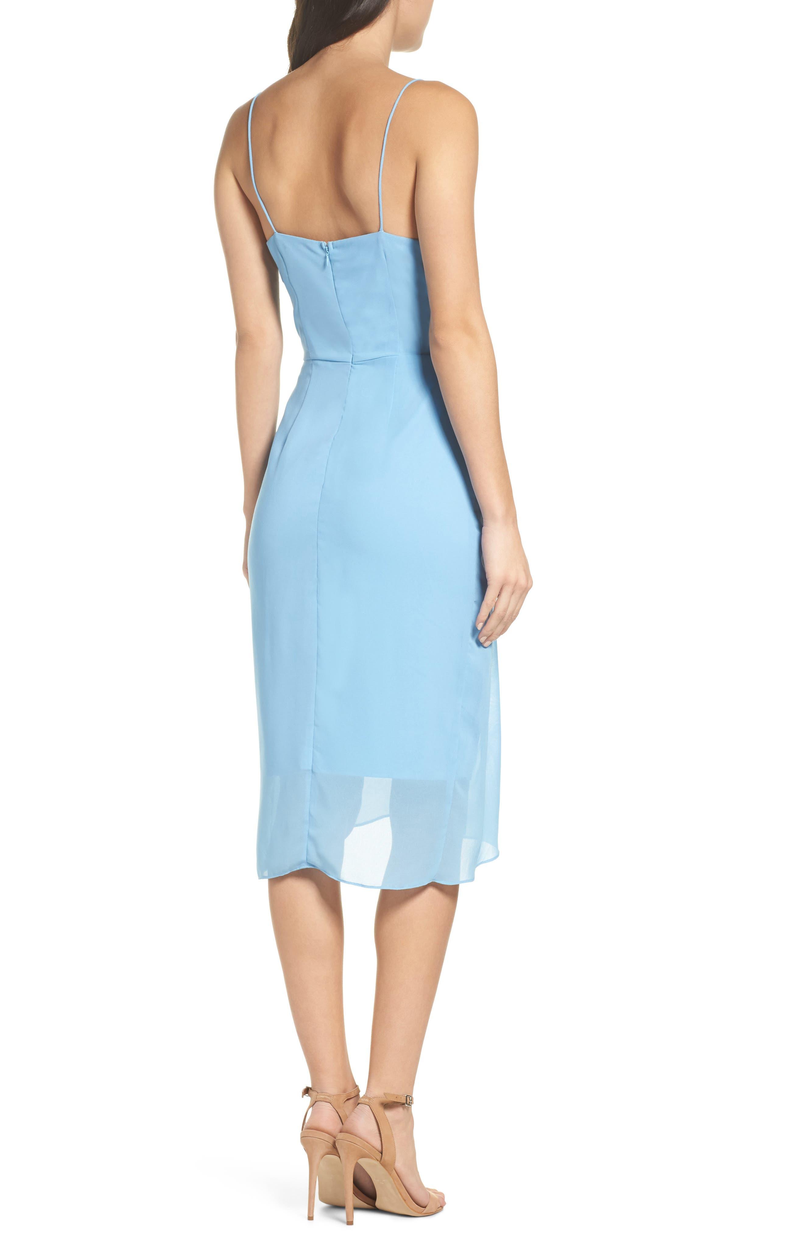 Ember Glow Drape Dress,                             Alternate thumbnail 2, color,                             Dusk Blue