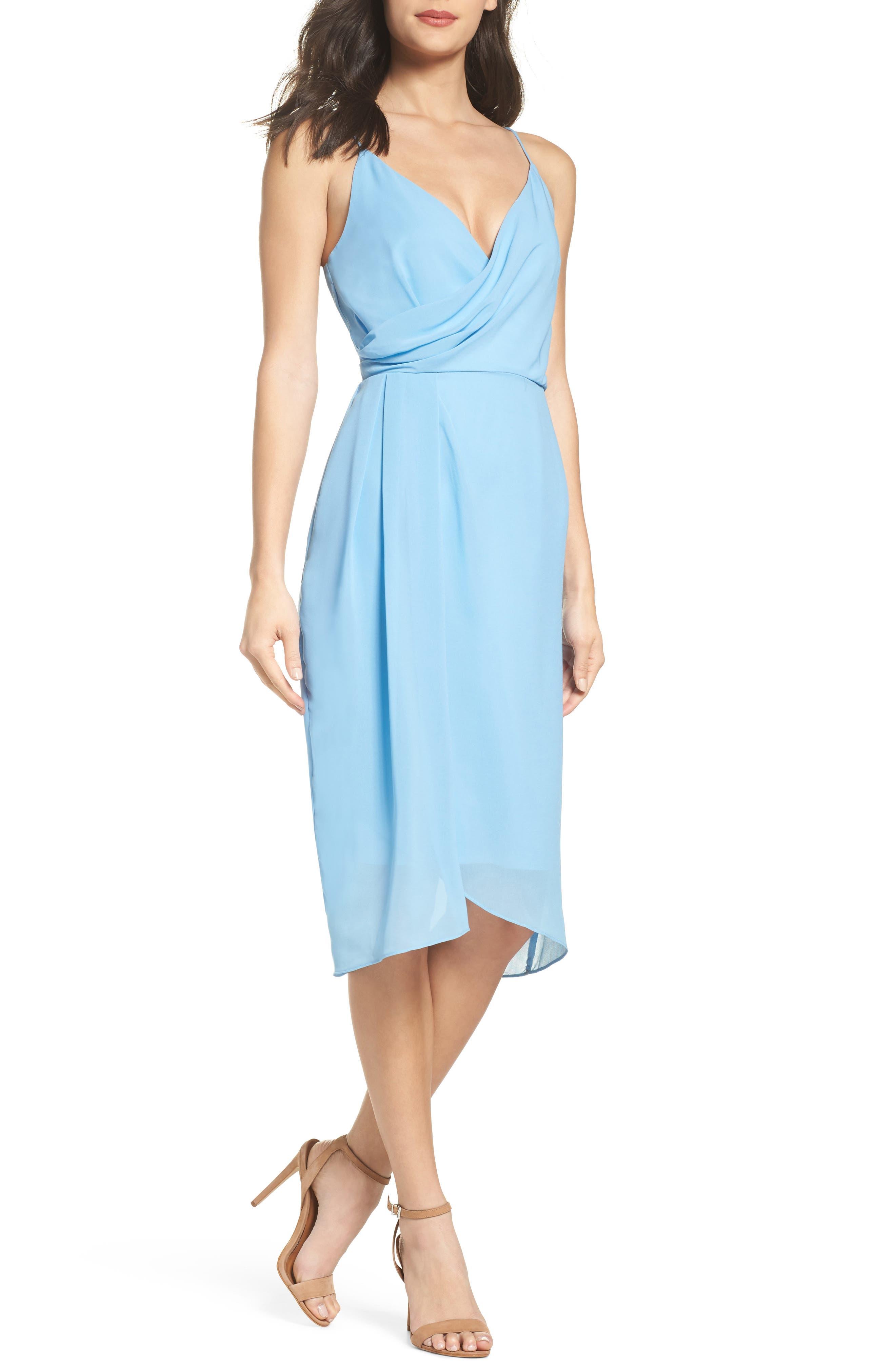 Ember Glow Drape Dress,                             Main thumbnail 1, color,                             Dusk Blue