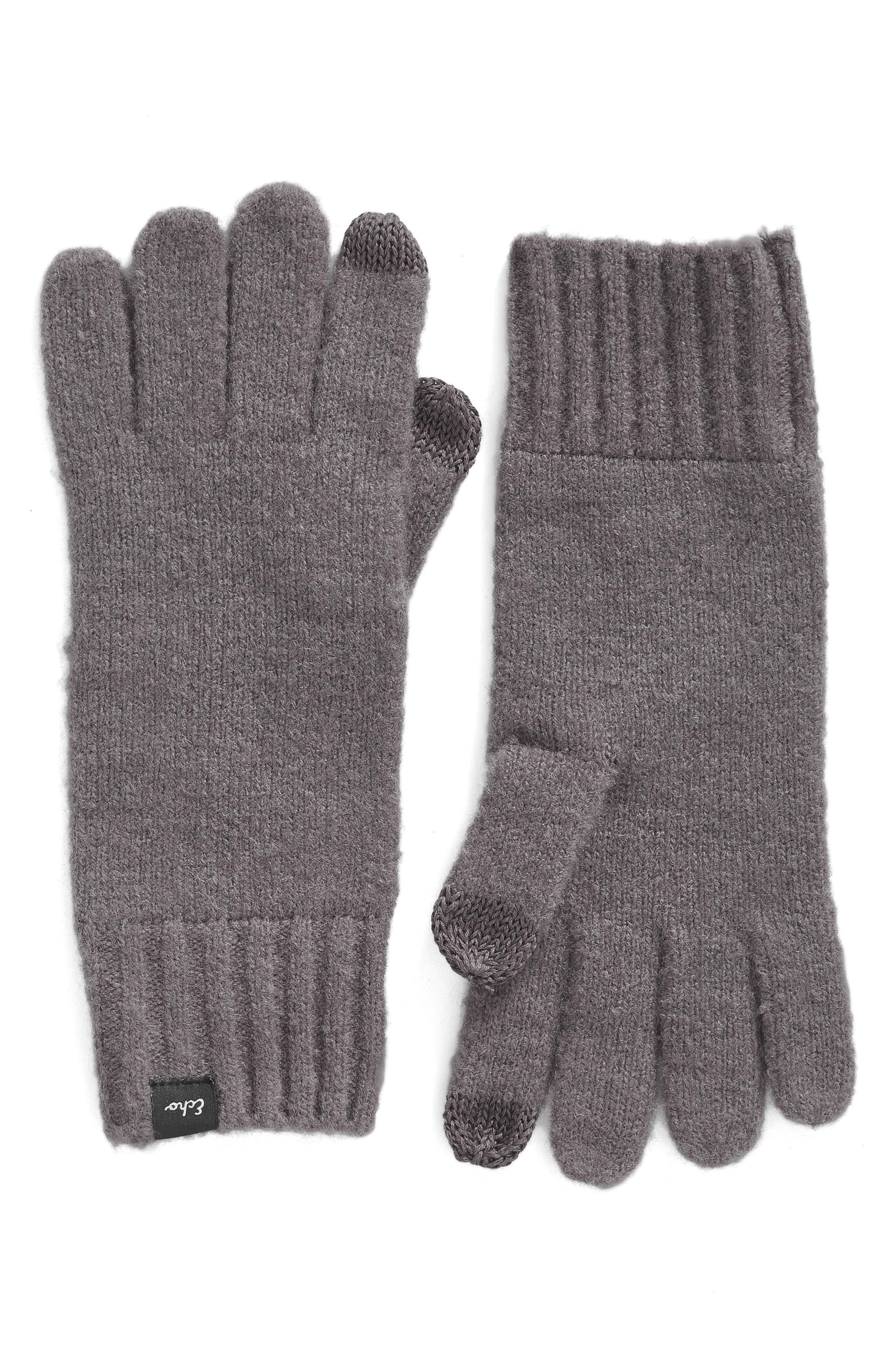'Touch' Stretch Fleece Tech Gloves,                         Main,                         color, Gunmetal