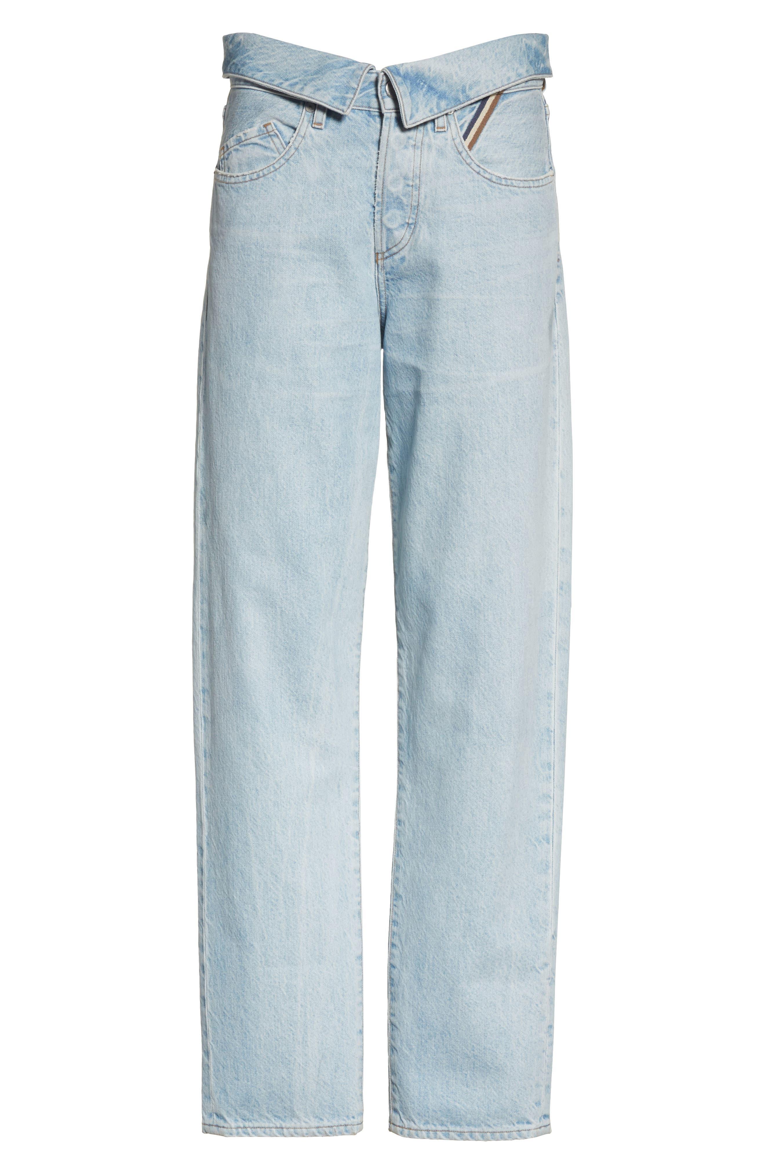 Alternate Image 6  - Jean Atelier Flip Straight Leg Jeans (Sky)