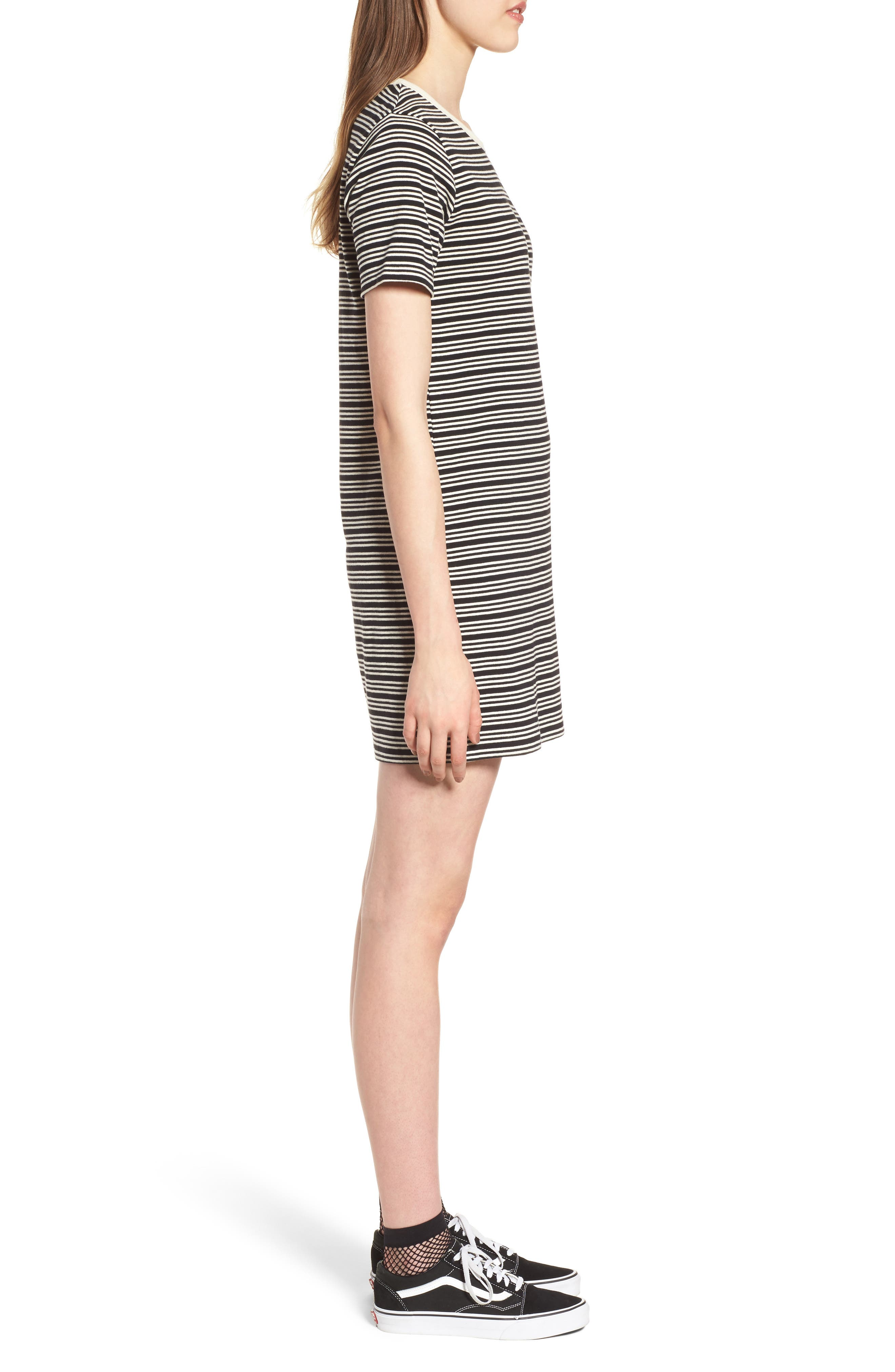 Alternate Image 3  - Obey Freya Stripe T-Shirt Dress