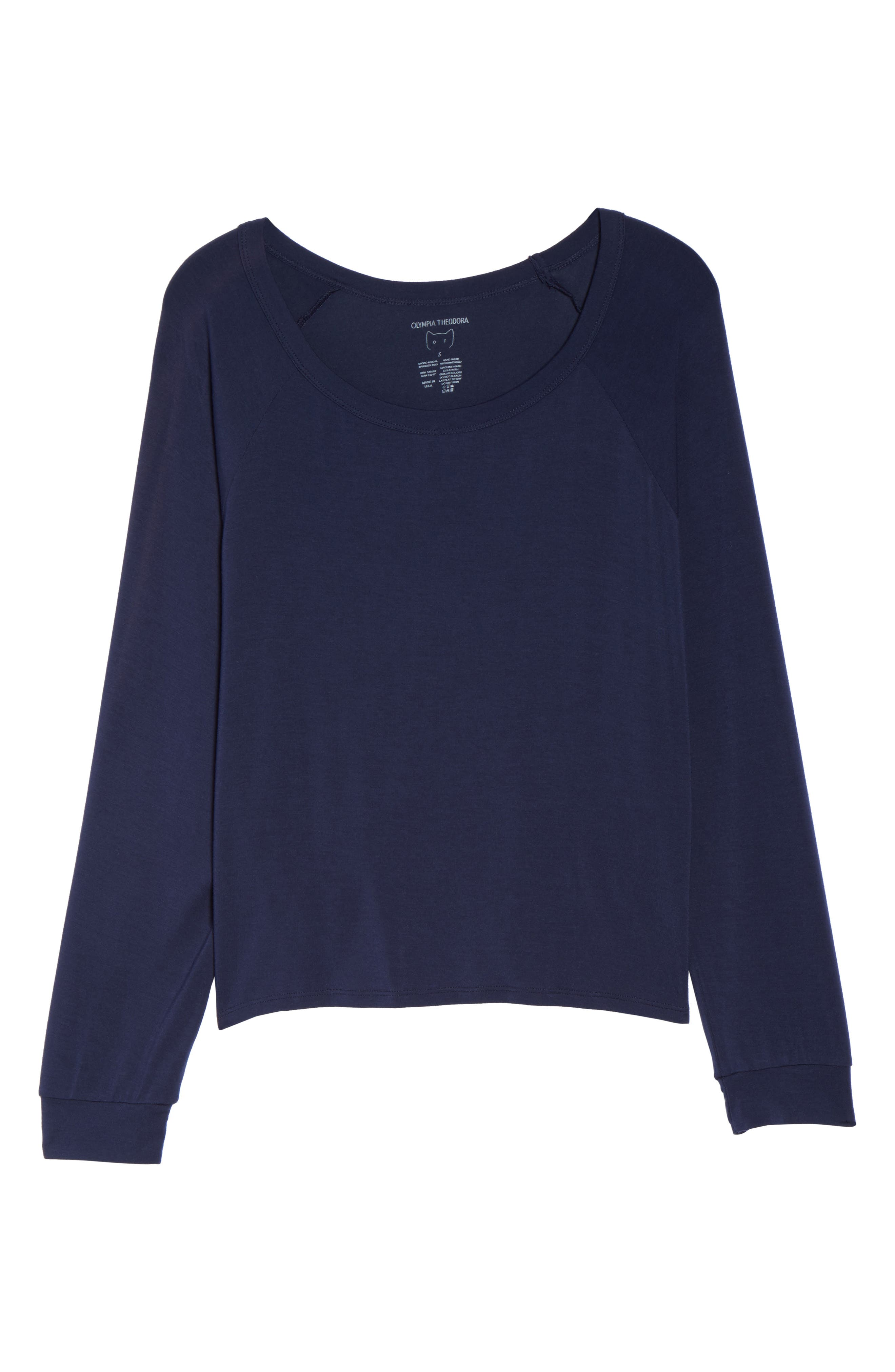 Amber Long Sleeve Top,                             Alternate thumbnail 4, color,                             Twilight