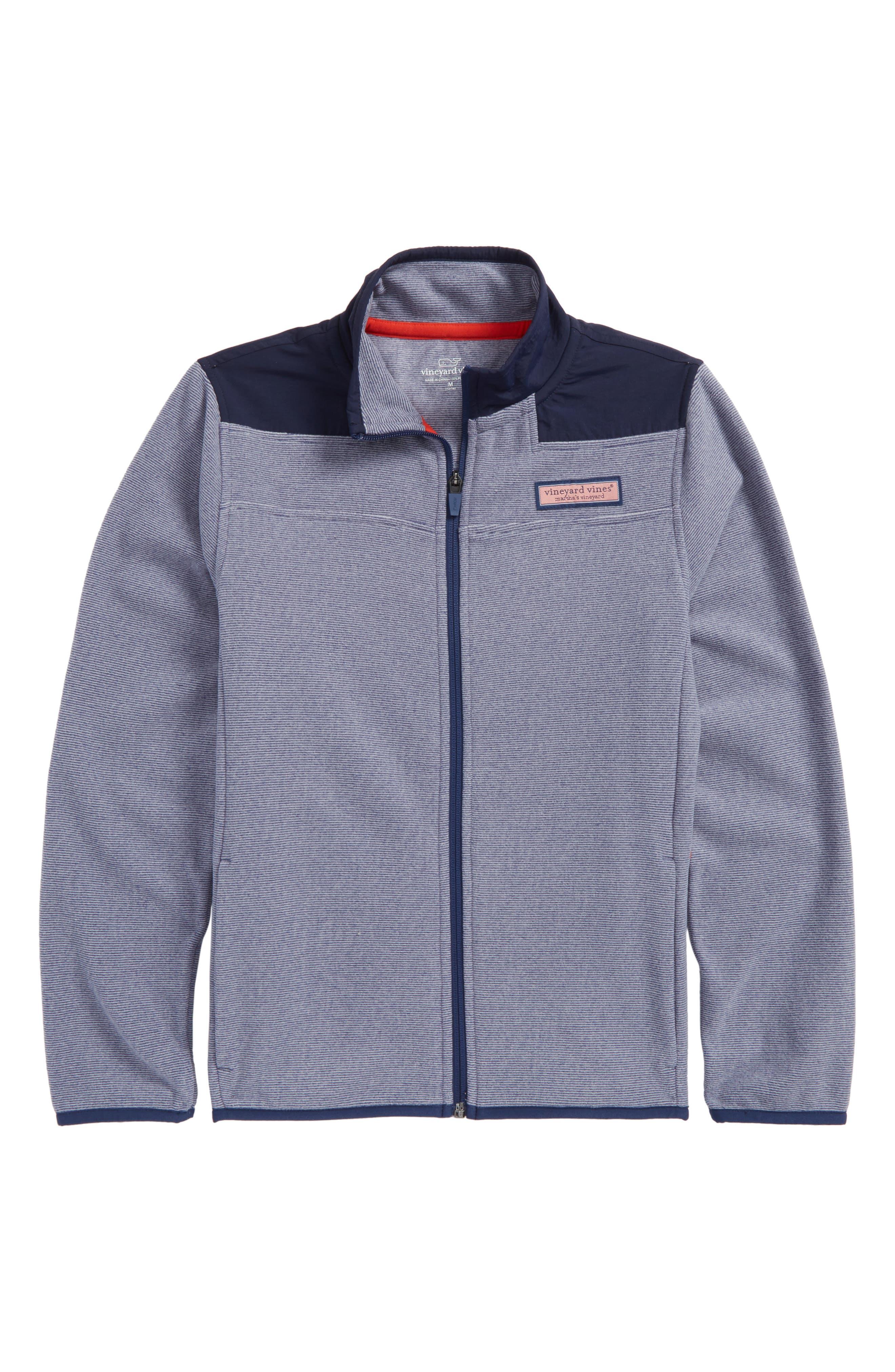 End on End Fleece Jacket,                             Main thumbnail 1, color,                             Deep Bay