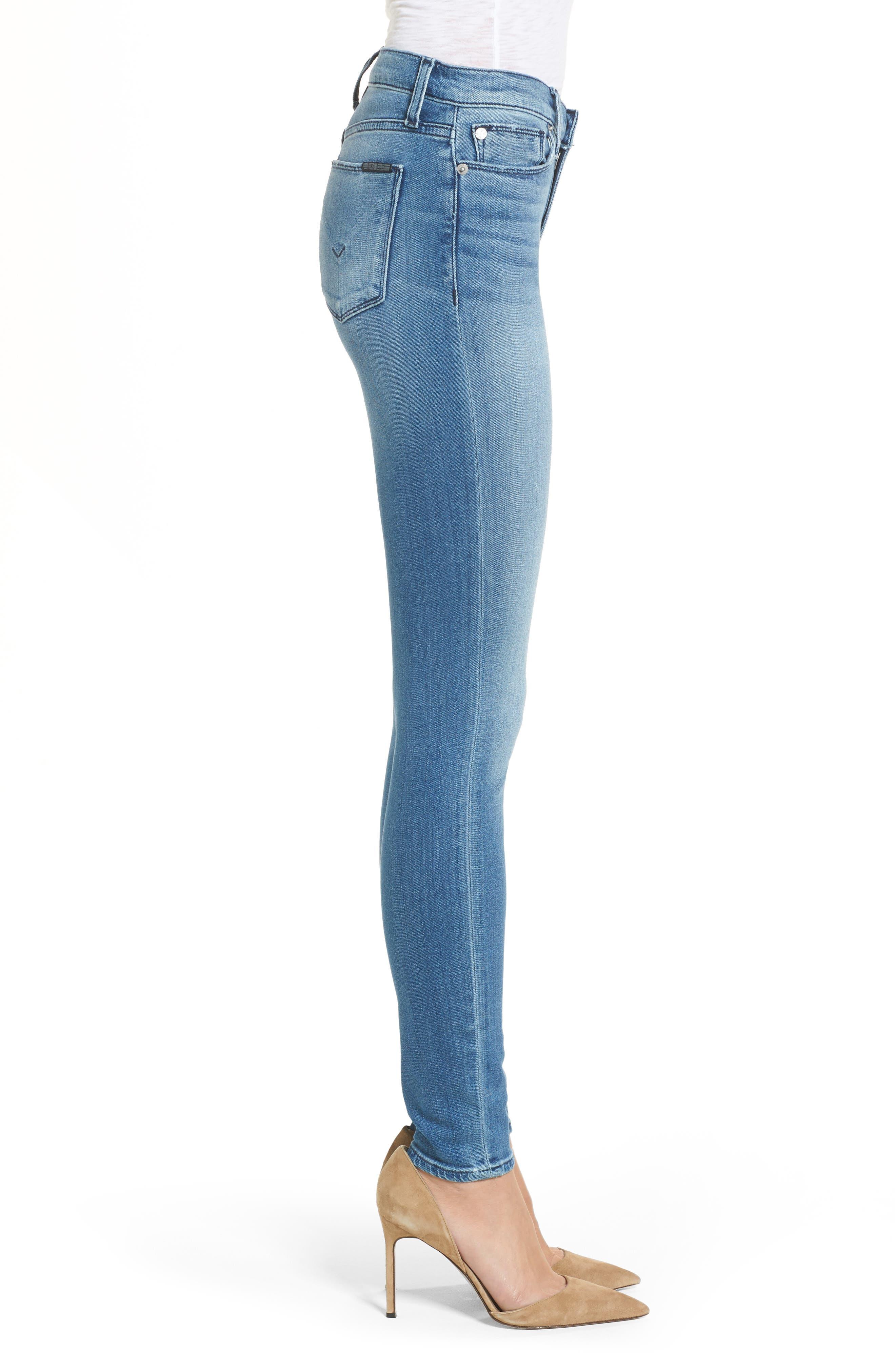 Alternate Image 3  - Hudson Nico Mid Rise Super Skinny Jeans