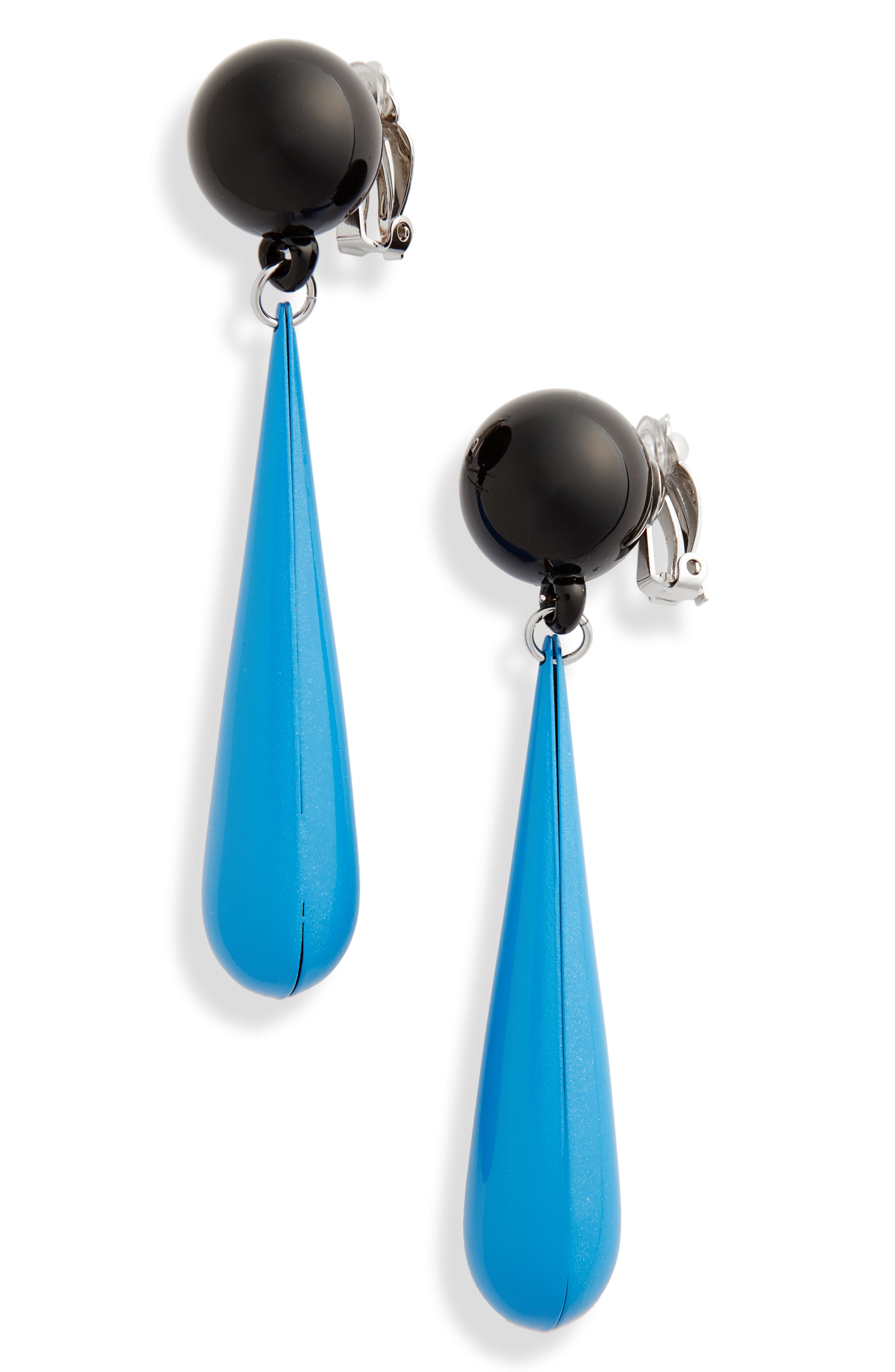 Motif Drop Earrings,                         Main,                         color, Light Blue