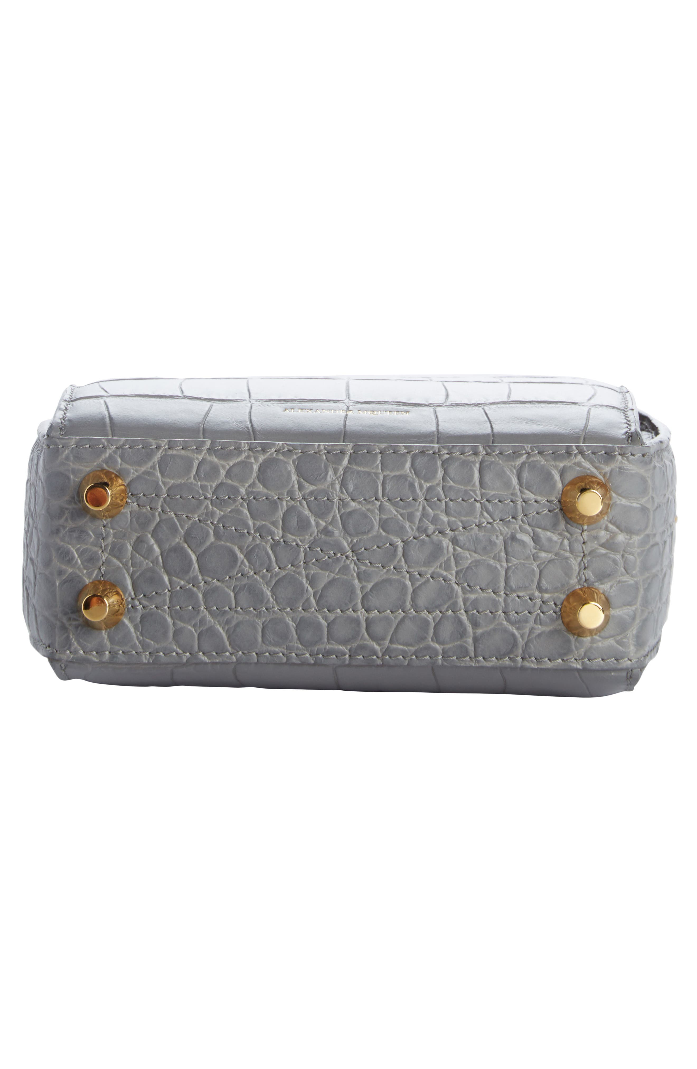 Alternate Image 5  - Alexander McQueen Mini Box Croc-Embossed Leather Bag