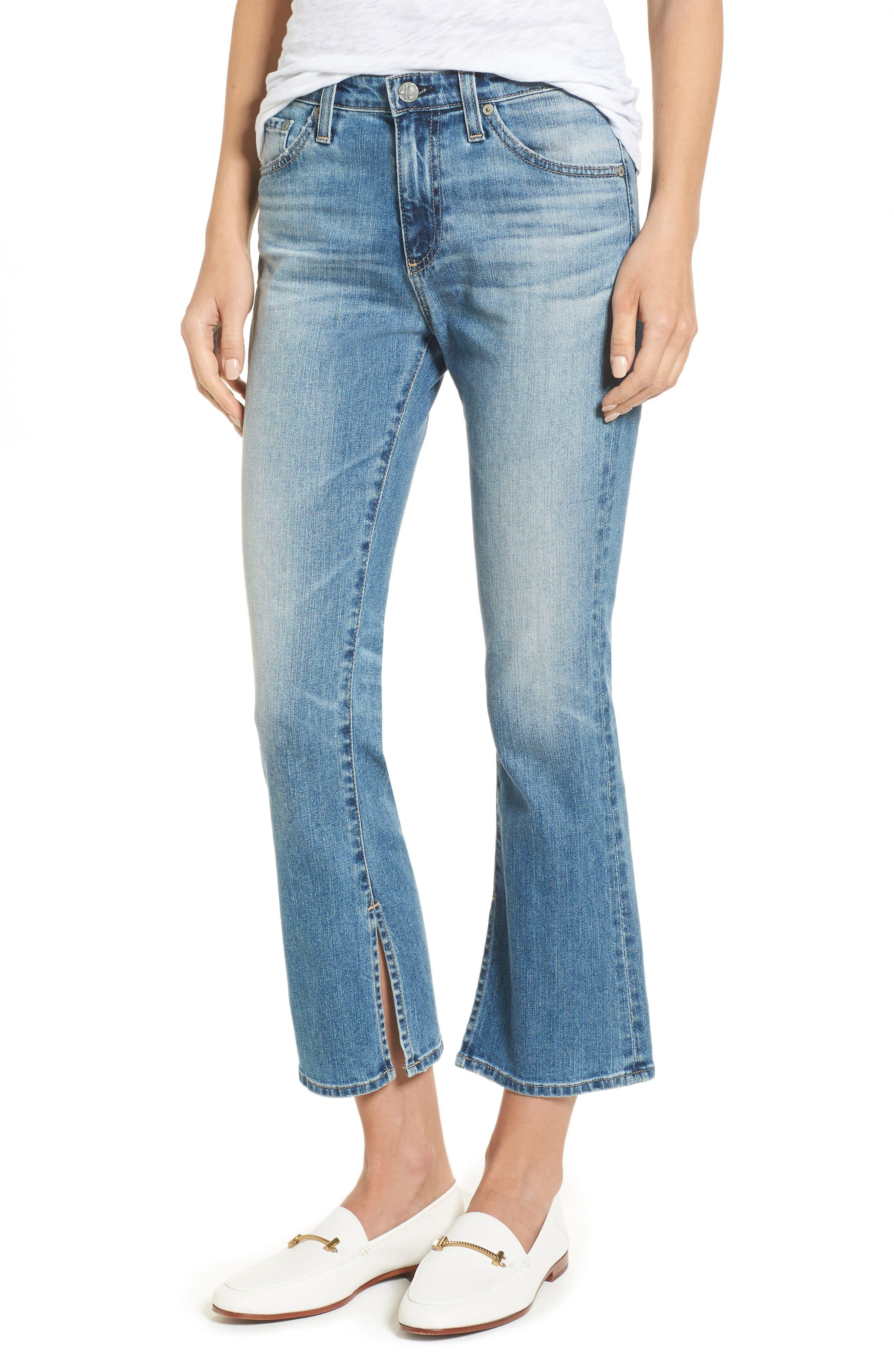 Main Image - AG Jodi Crop Flare Jeans (16 Years Indigo Deluge)