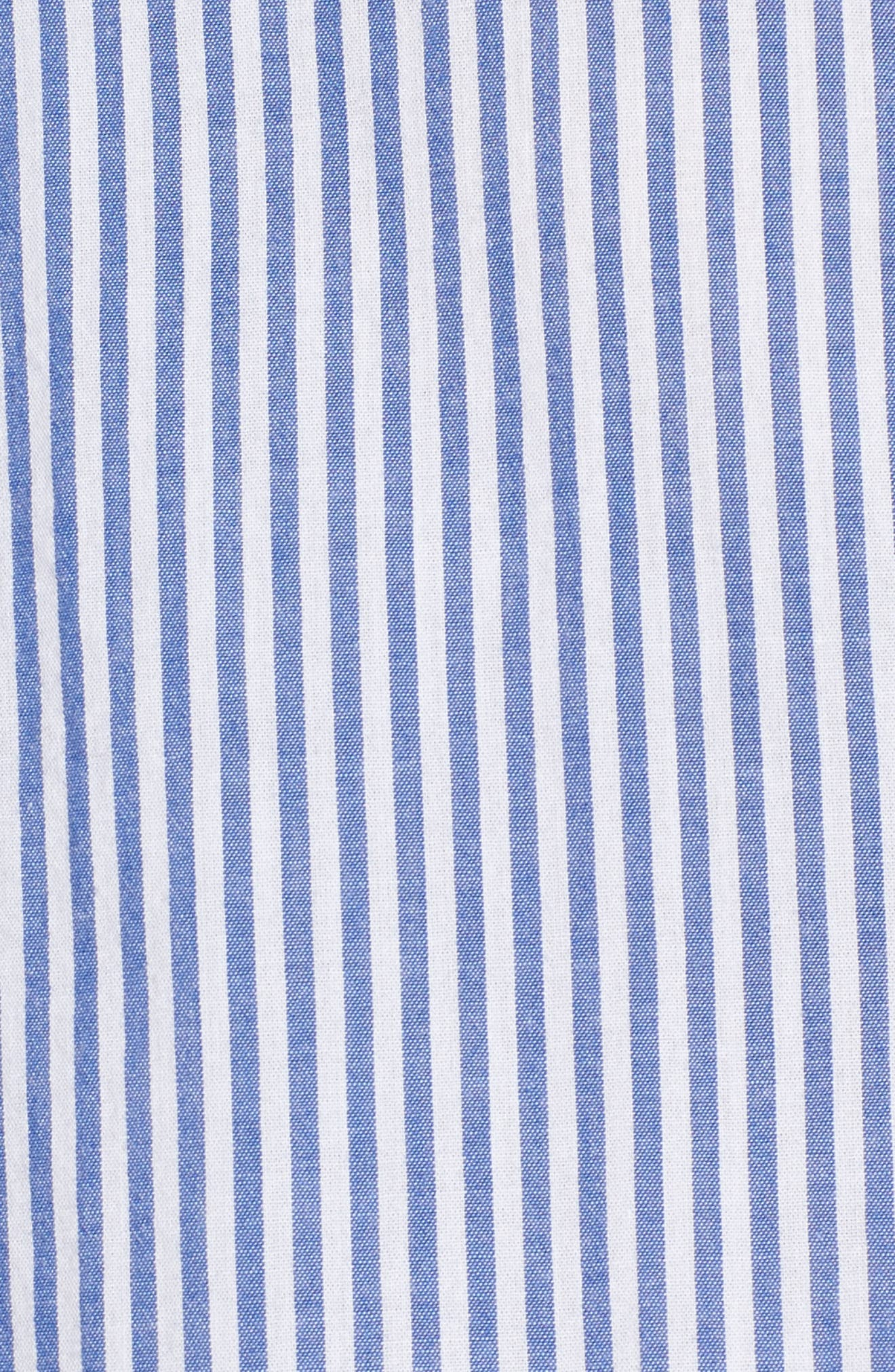 Astrid Tie Cuff Shirt,                             Alternate thumbnail 5, color,                             Banker Stripe