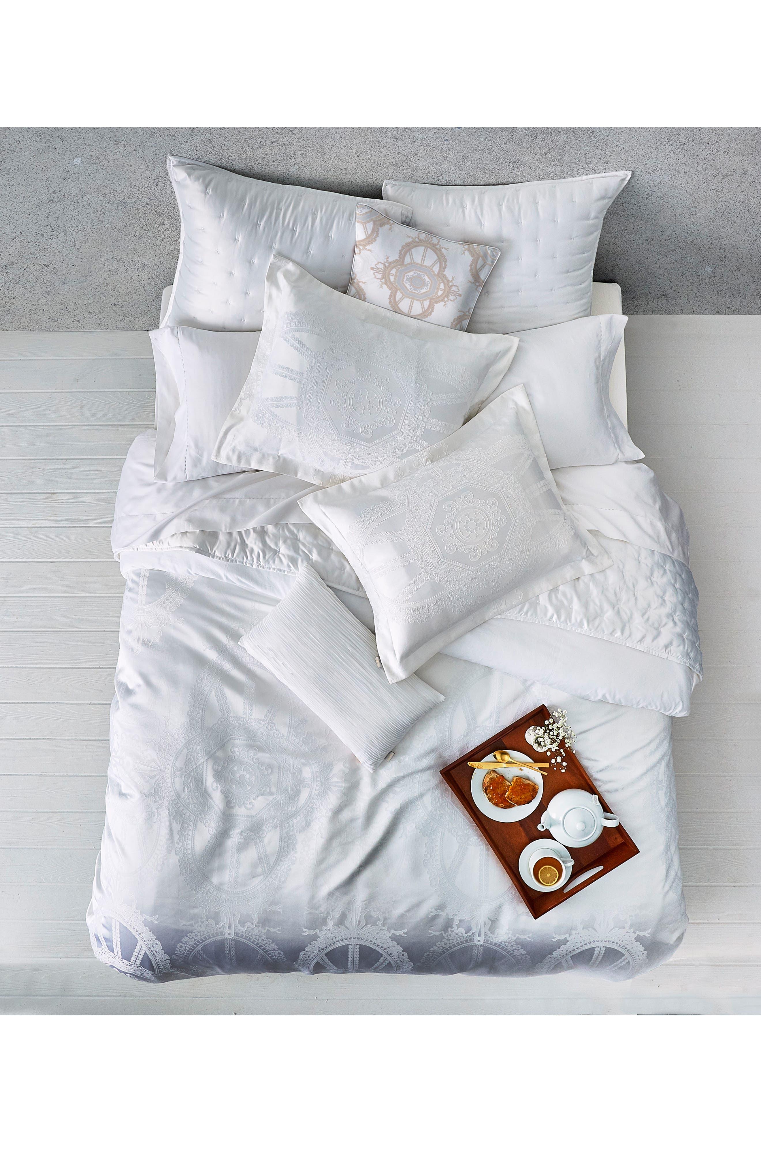 Versailles Comforter & Sham Set,                             Alternate thumbnail 5, color,                             White