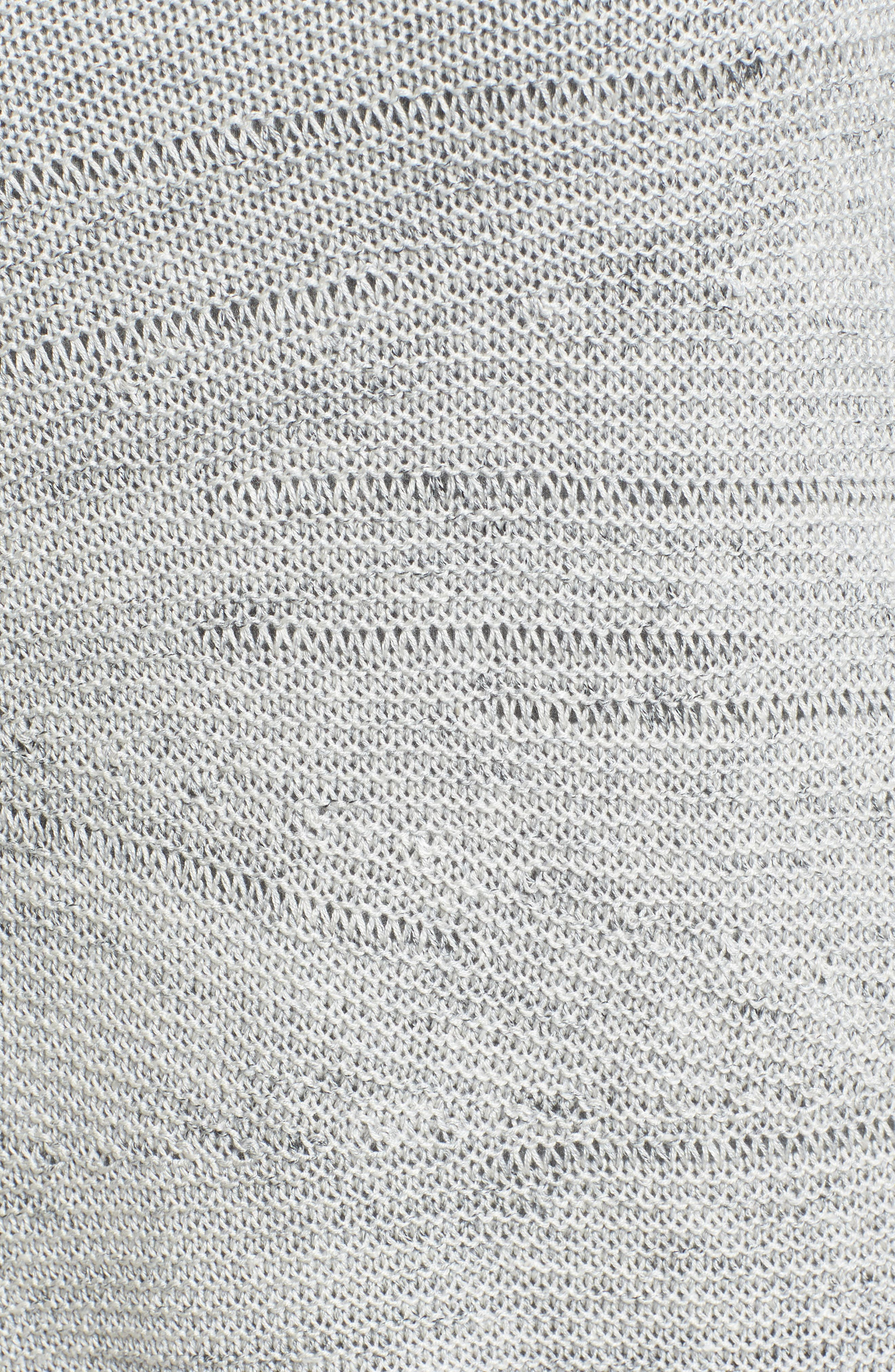 Traveling Stripe Bell Sleeve Top,                             Alternate thumbnail 5, color,                             Multi