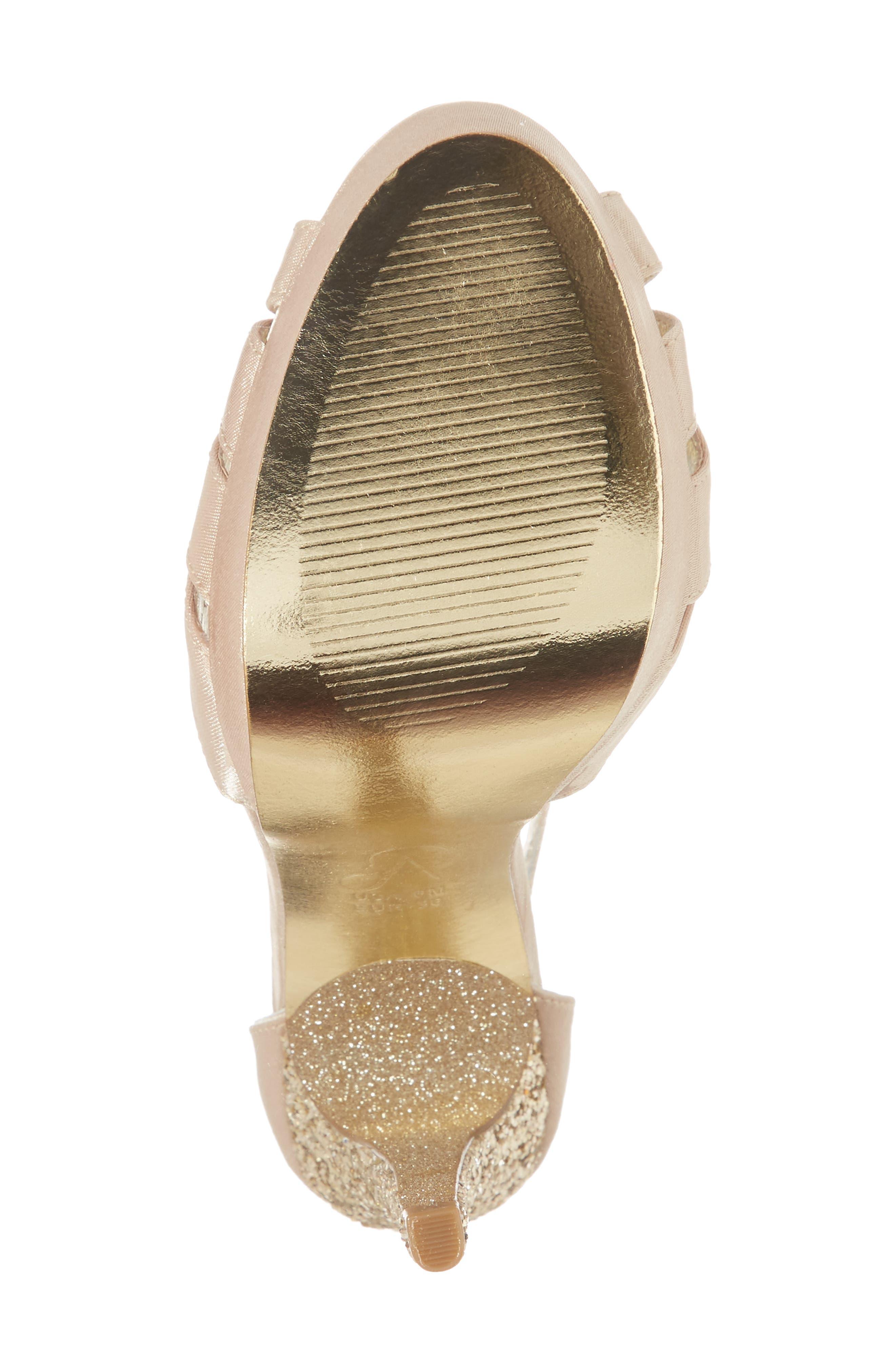 Samoa Platform Sandal,                             Alternate thumbnail 6, color,                             Nude Classic Satin