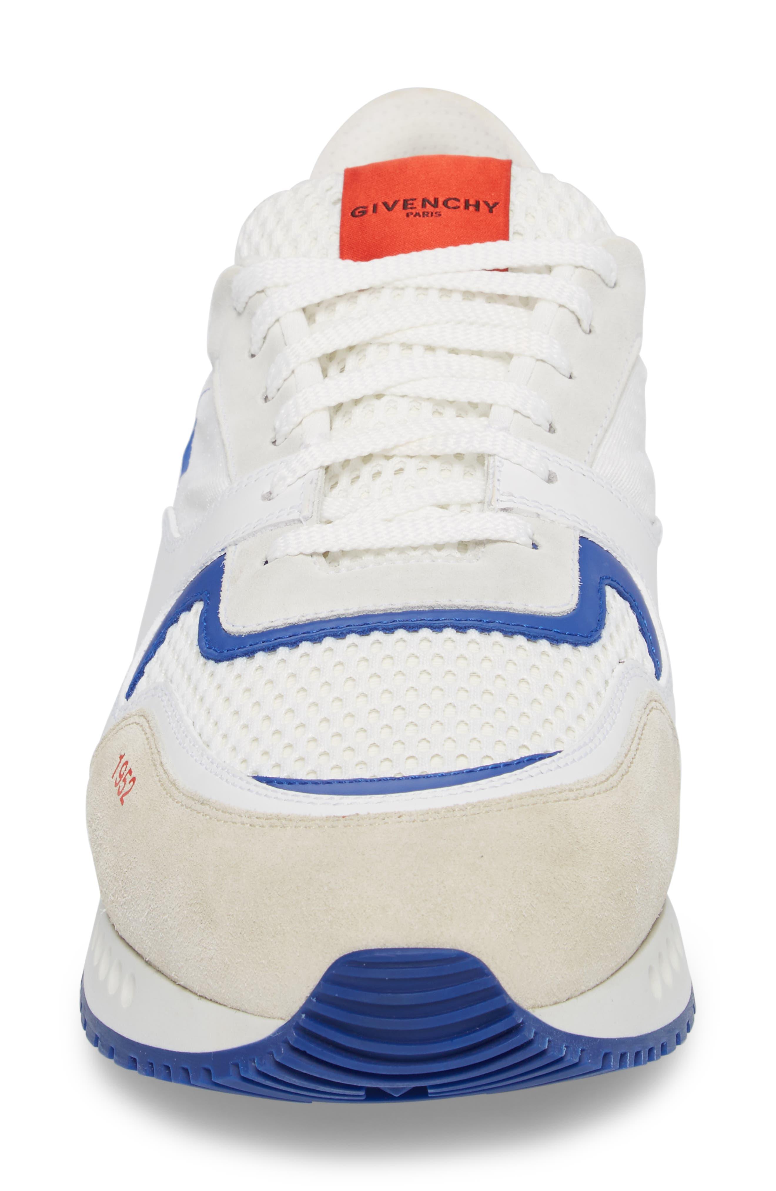 1952 Star Active Runner Sneaker,                             Alternate thumbnail 4, color,                             White/ Red