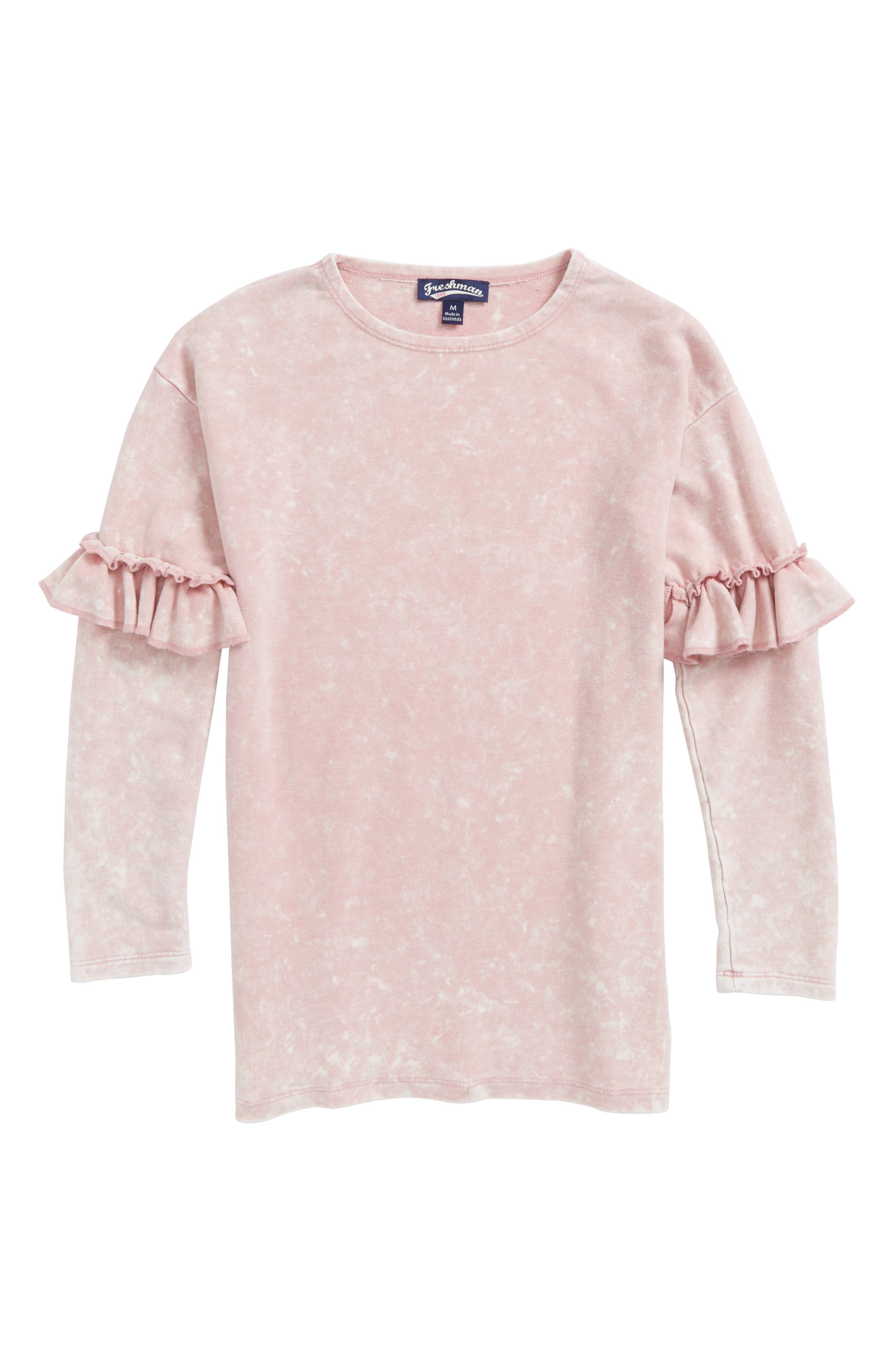Ruffle Sleeve Tunic,                         Main,                         color, Zephyr