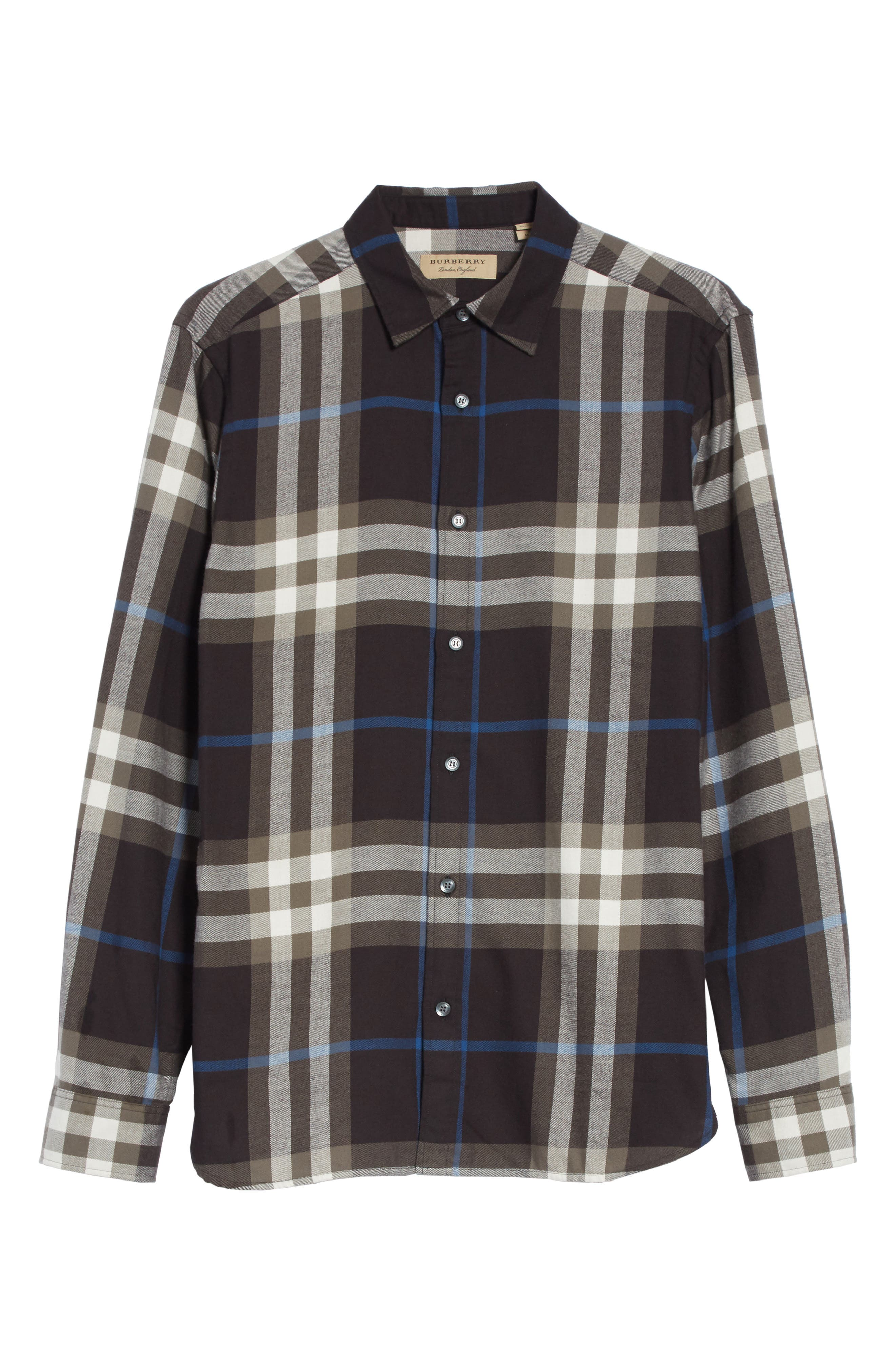 Salwick Slim Fit Sport Shirt,                             Alternate thumbnail 6, color,                             Black
