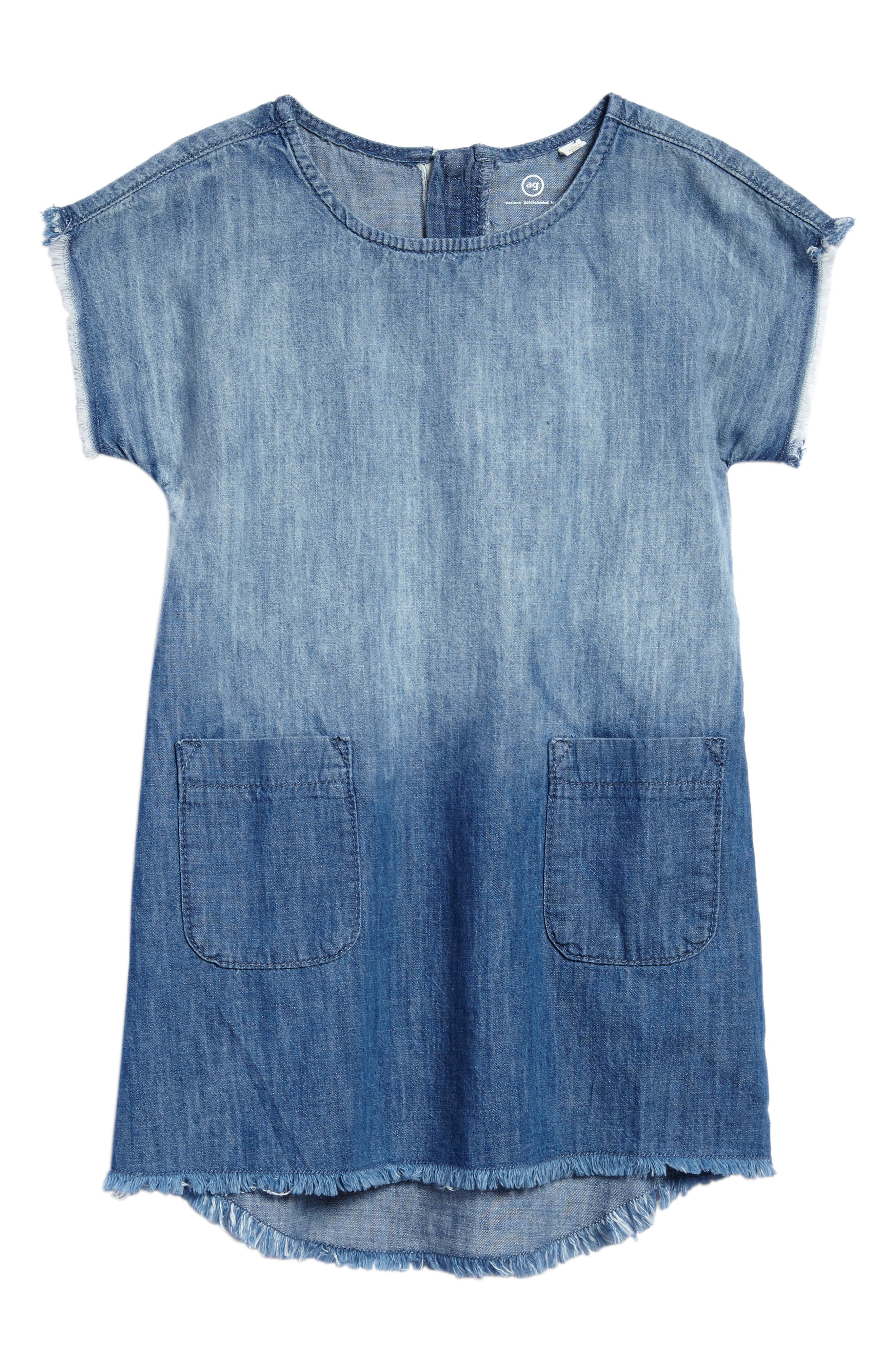 Alternate Image 1 Selected - ag adriano goldschmied kids Dip Dye Chambray Dress (Big Girls)