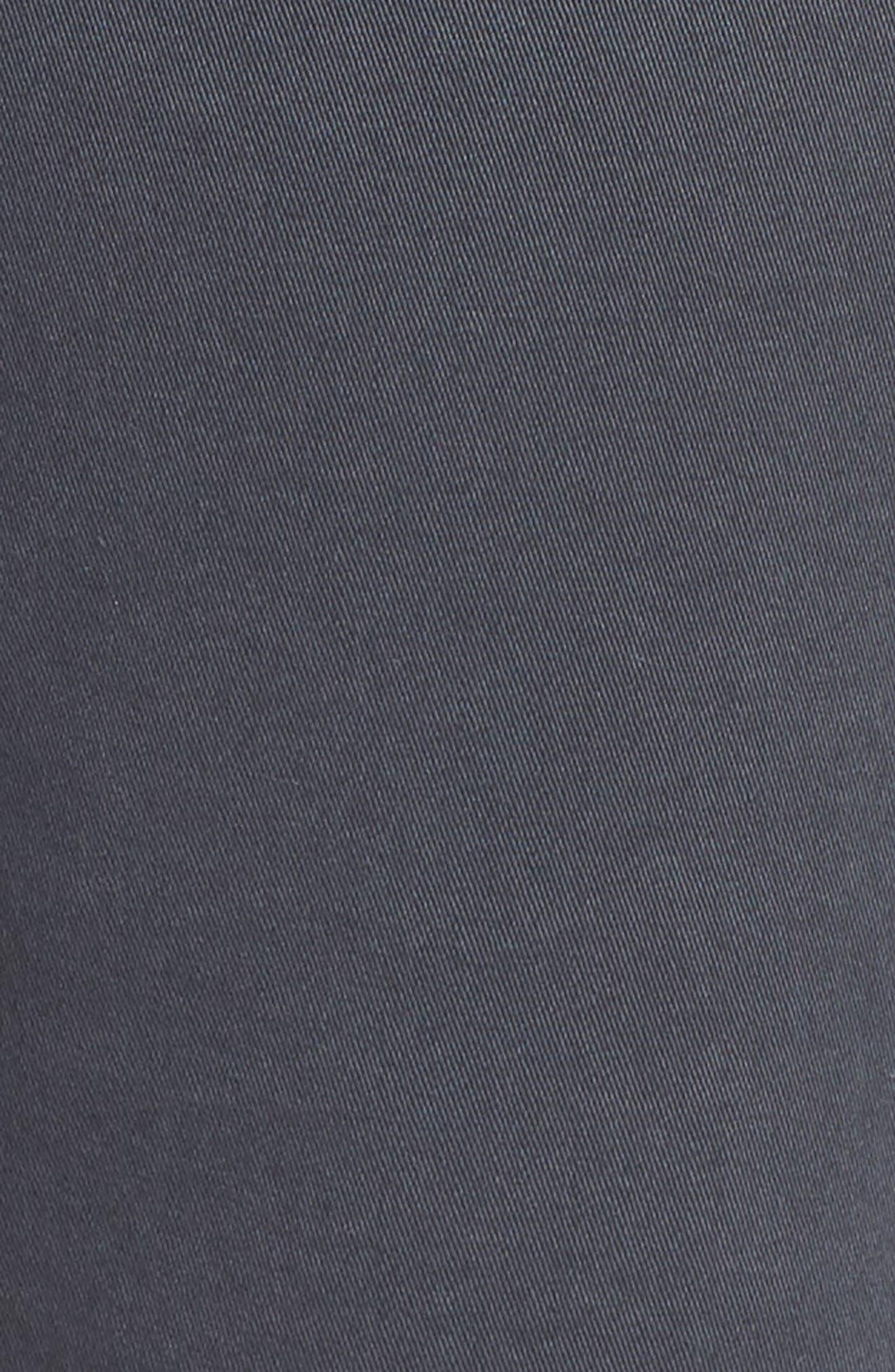 Twill Shorts,                             Alternate thumbnail 6, color,                             Grey Ebony