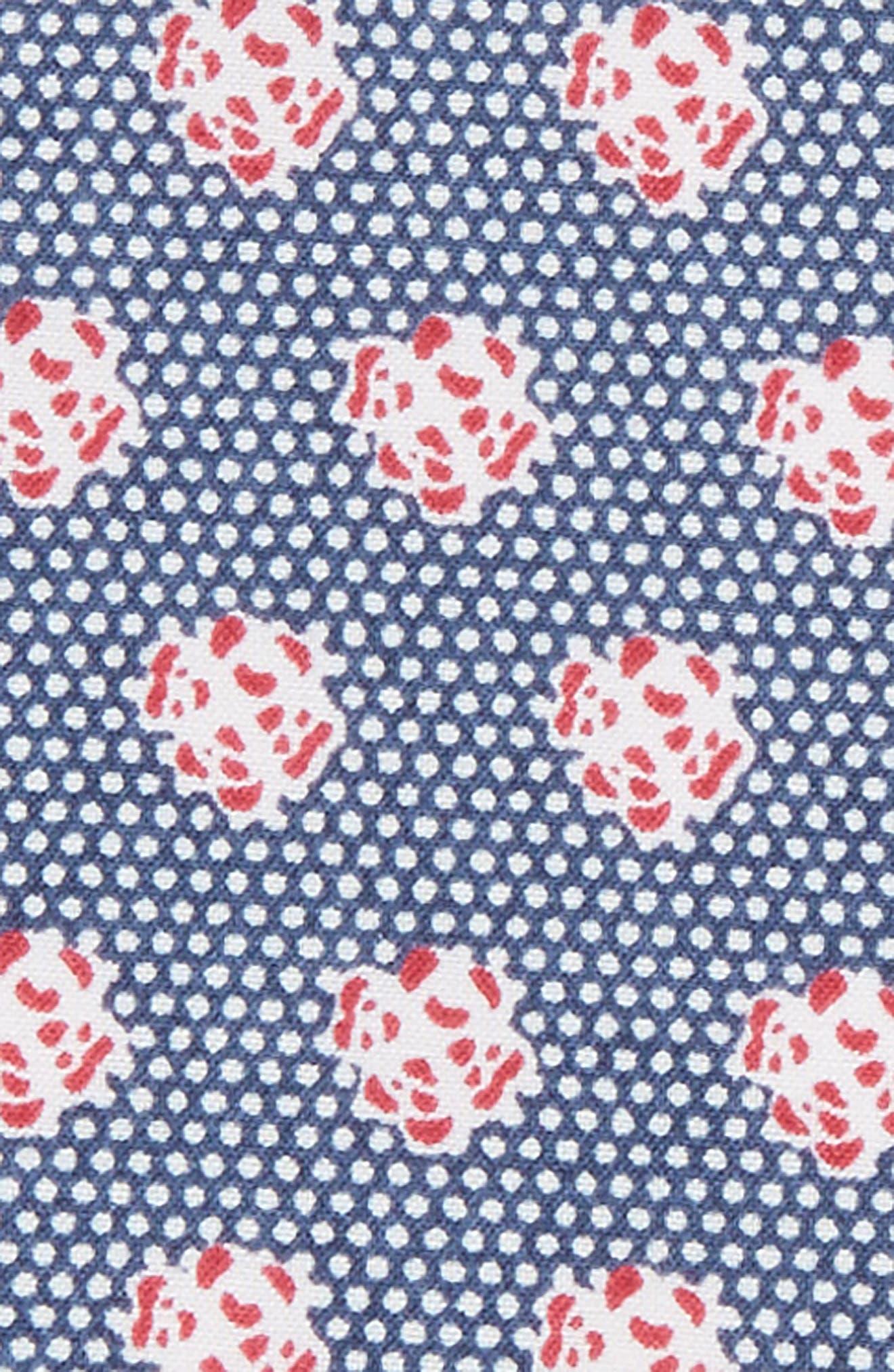 The Perfect Pre-Folded Pocket Square,                             Alternate thumbnail 2, color,                             Blue Talon Floral