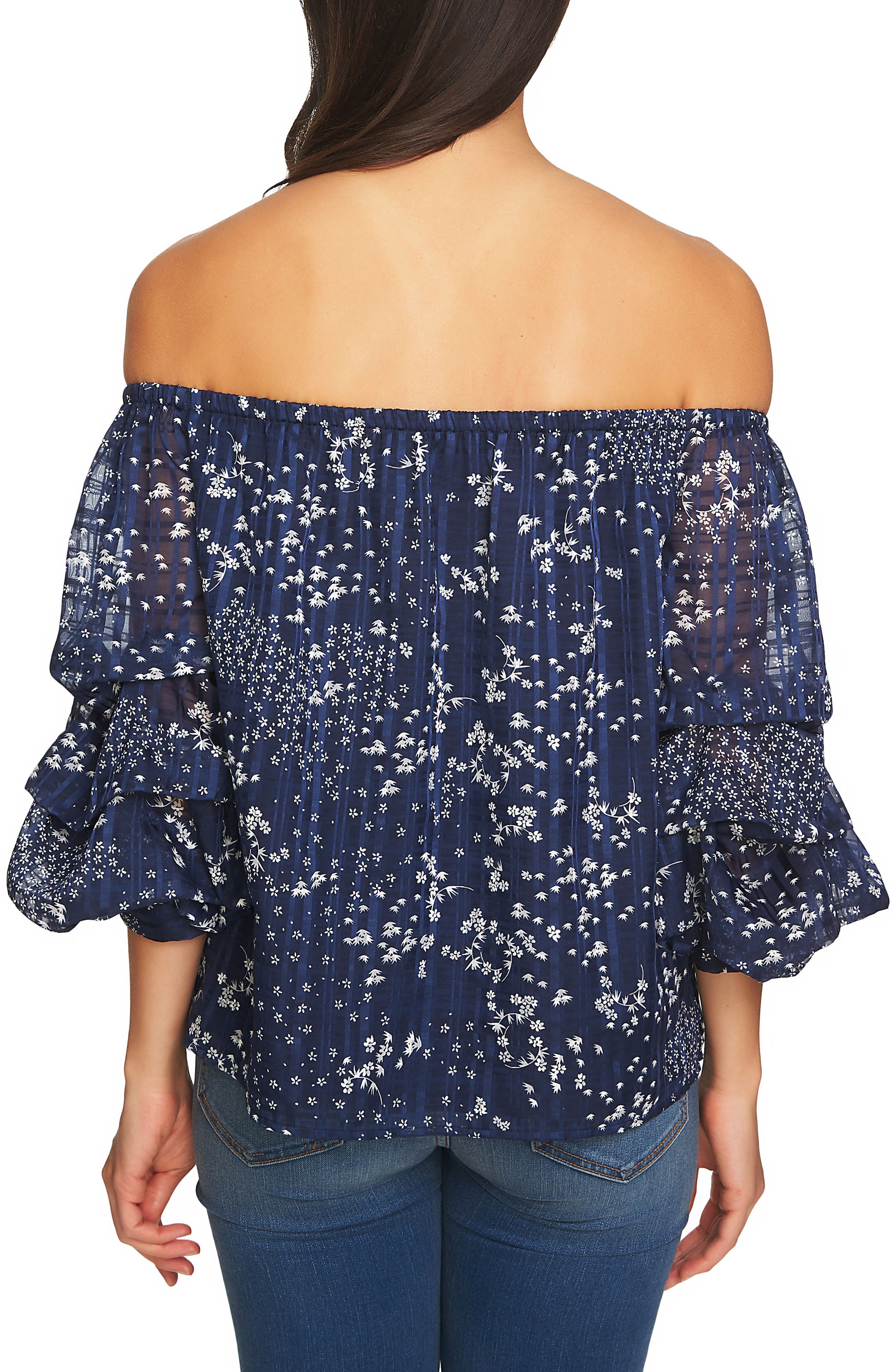 Off the Shoulder Top,                             Alternate thumbnail 2, color,                             Navy Yard