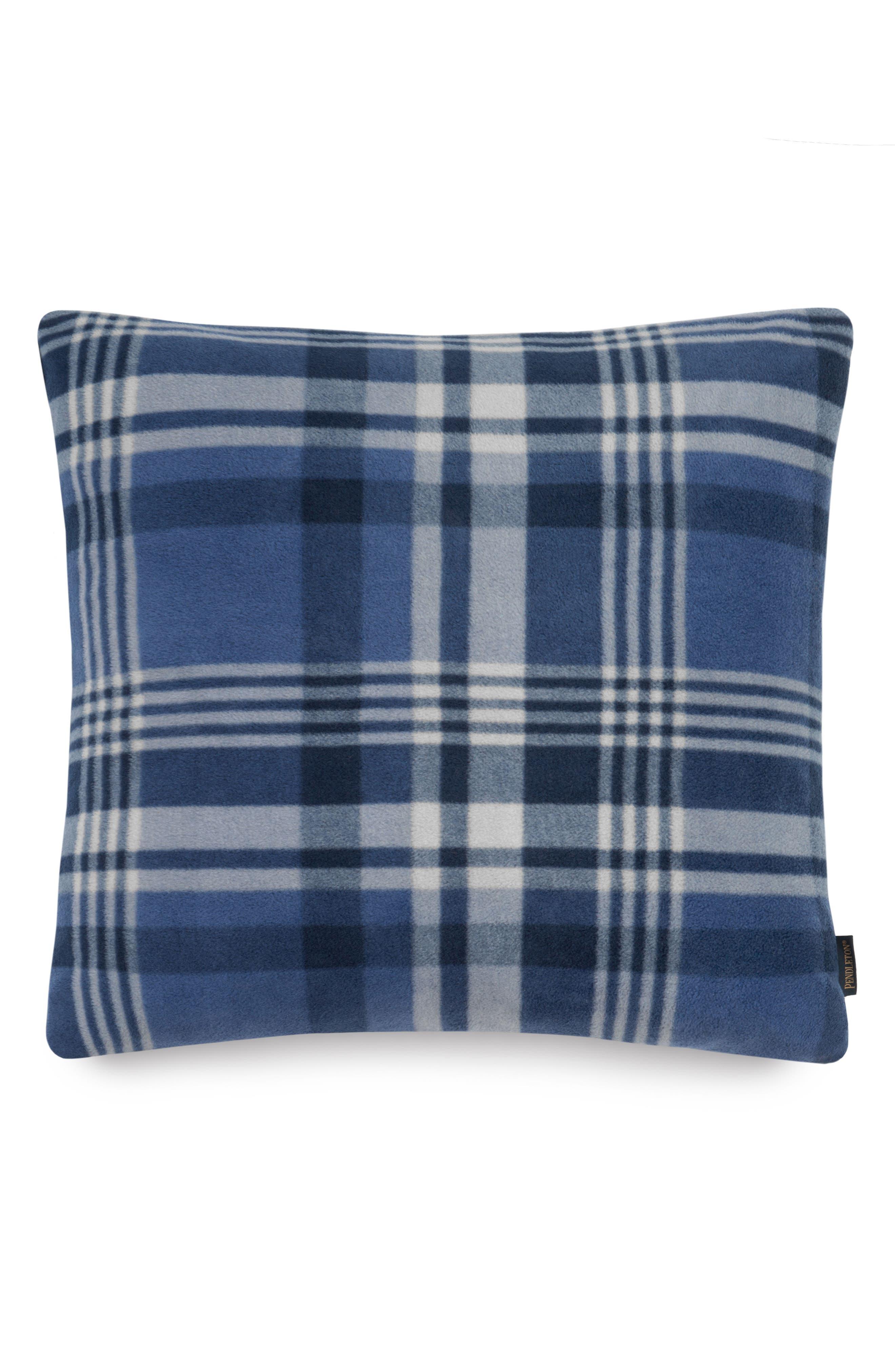 Teller Plaid Pillow,                         Main,                         color, Blue