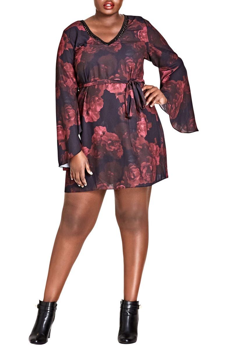 Crimson Rose Tunic Dress
