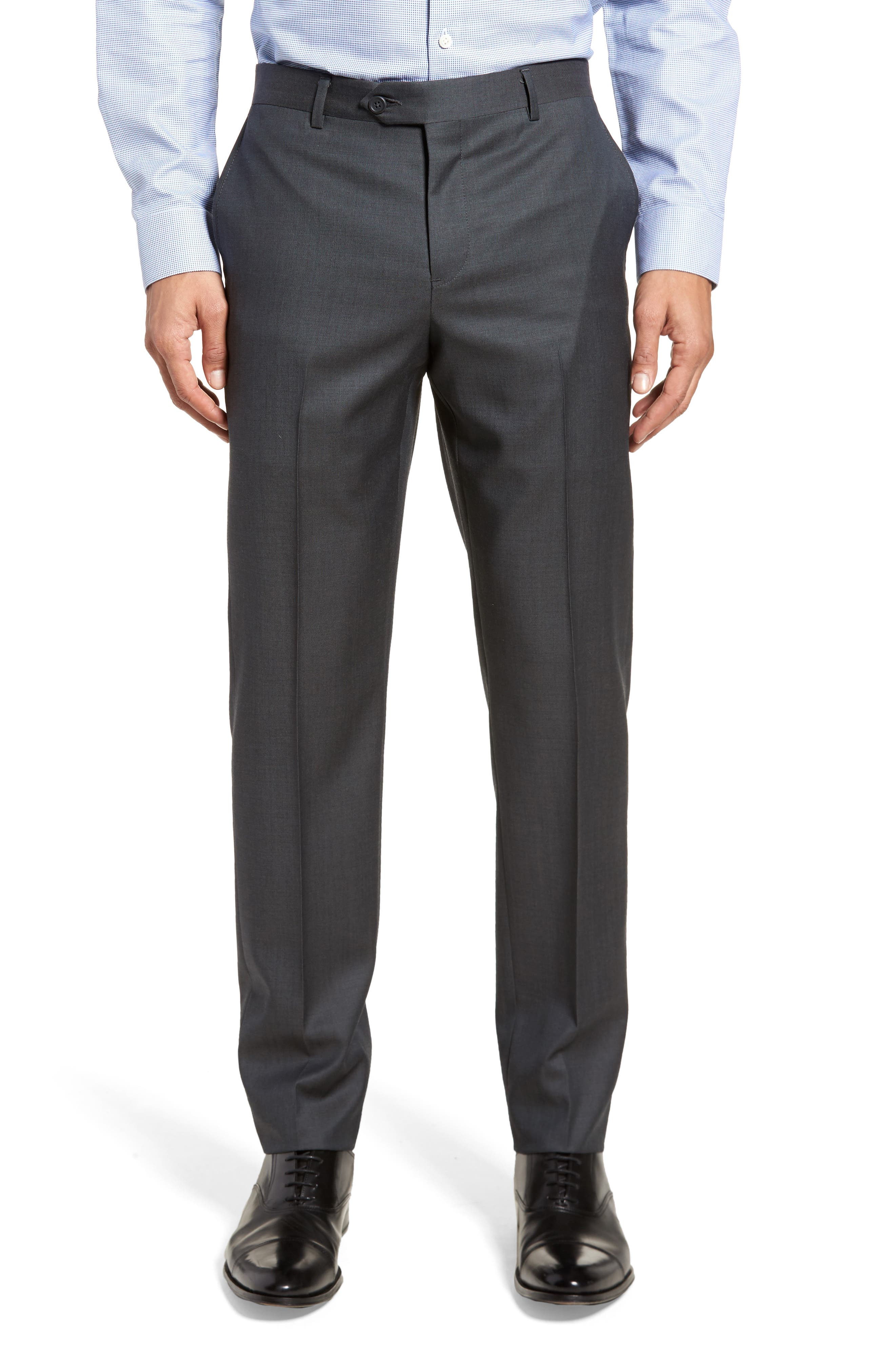 Extra Trim Fit Solid Wool Suit,                             Alternate thumbnail 6, color,                             Charcoal