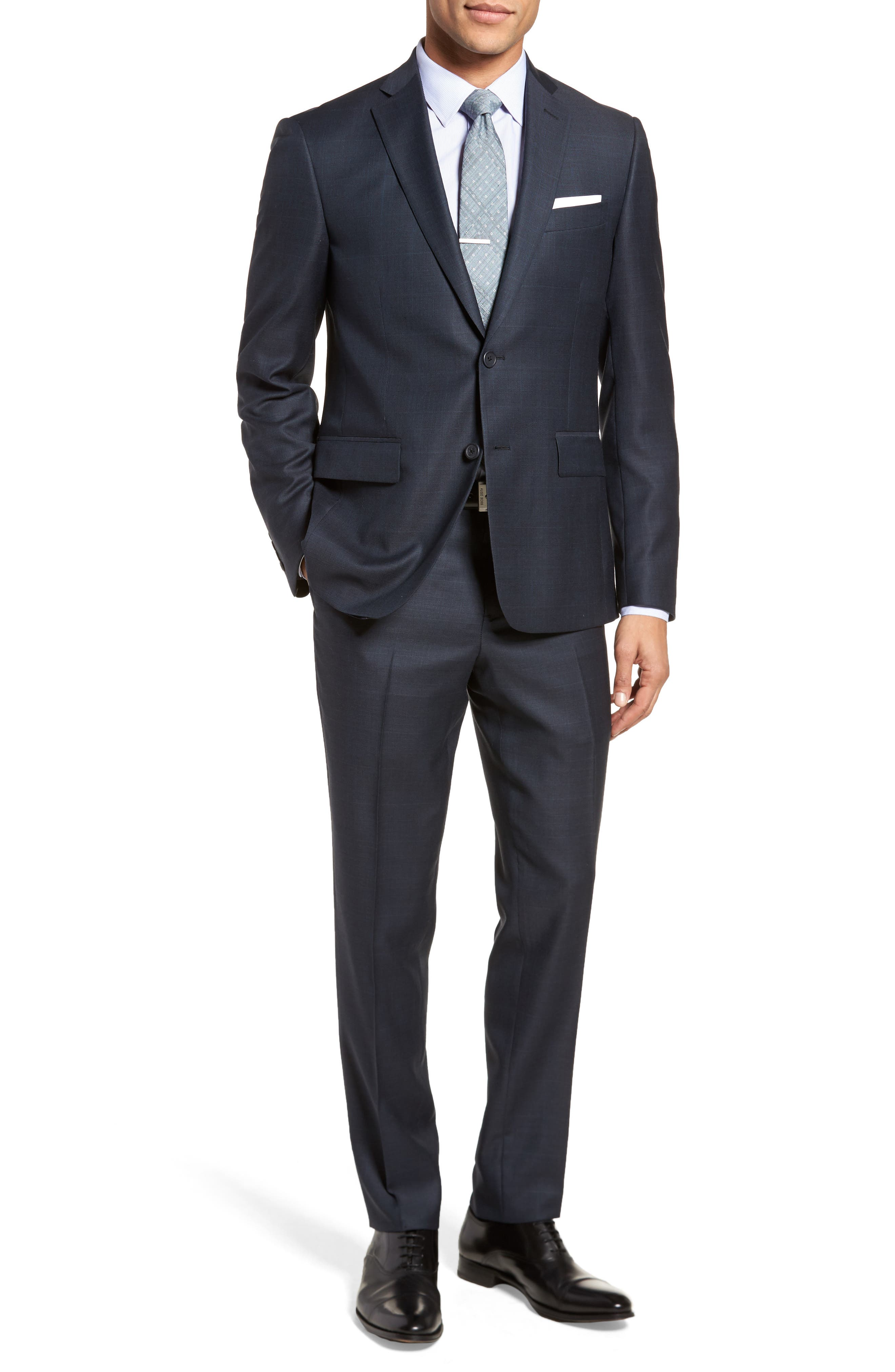 Nordstrom Men's Shop Extra Trim Fit Plaid Wool Suit