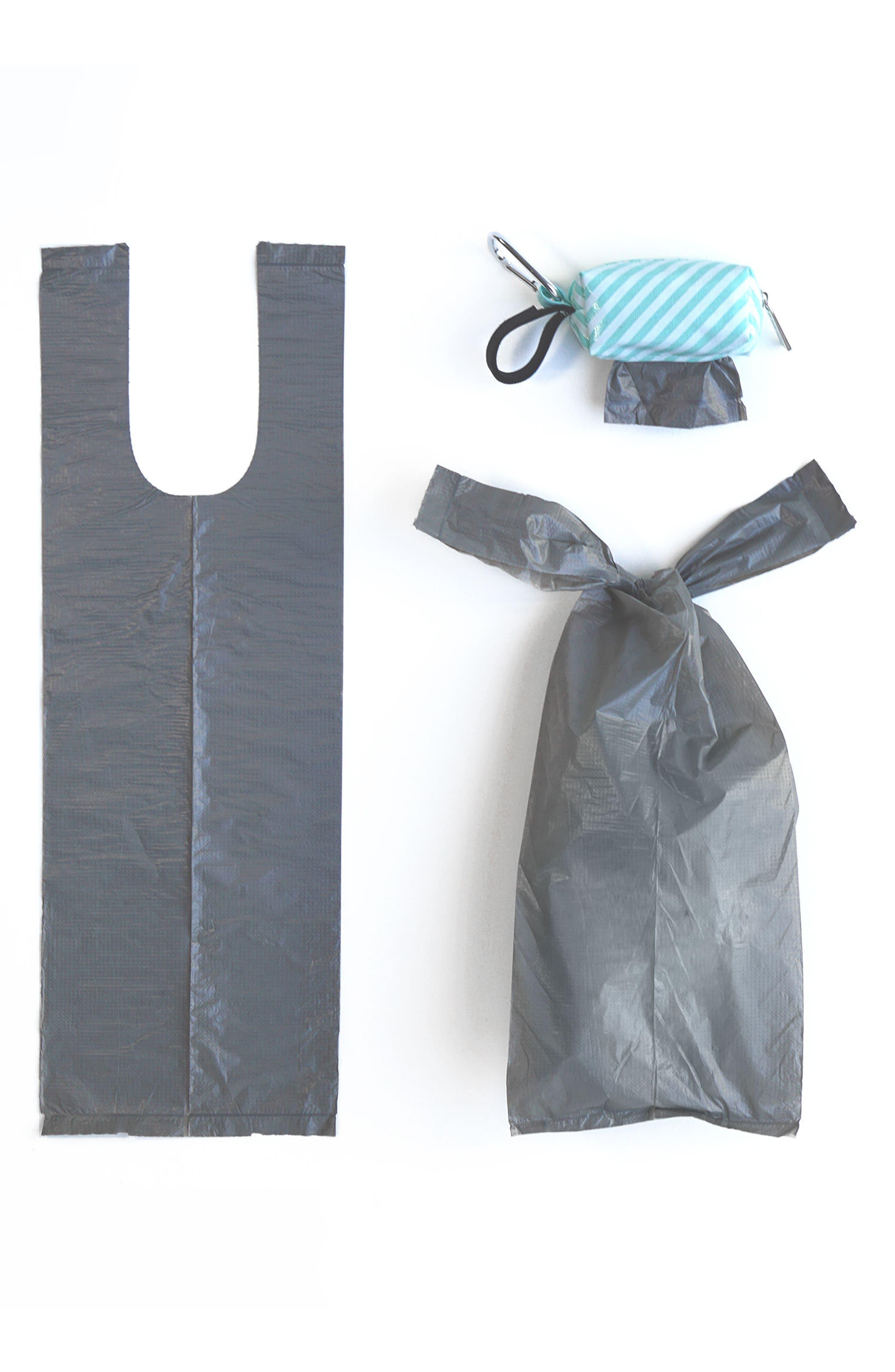 Portable Clip-On Dispenser & Bag Set,                             Alternate thumbnail 3, color,                             Seafoam