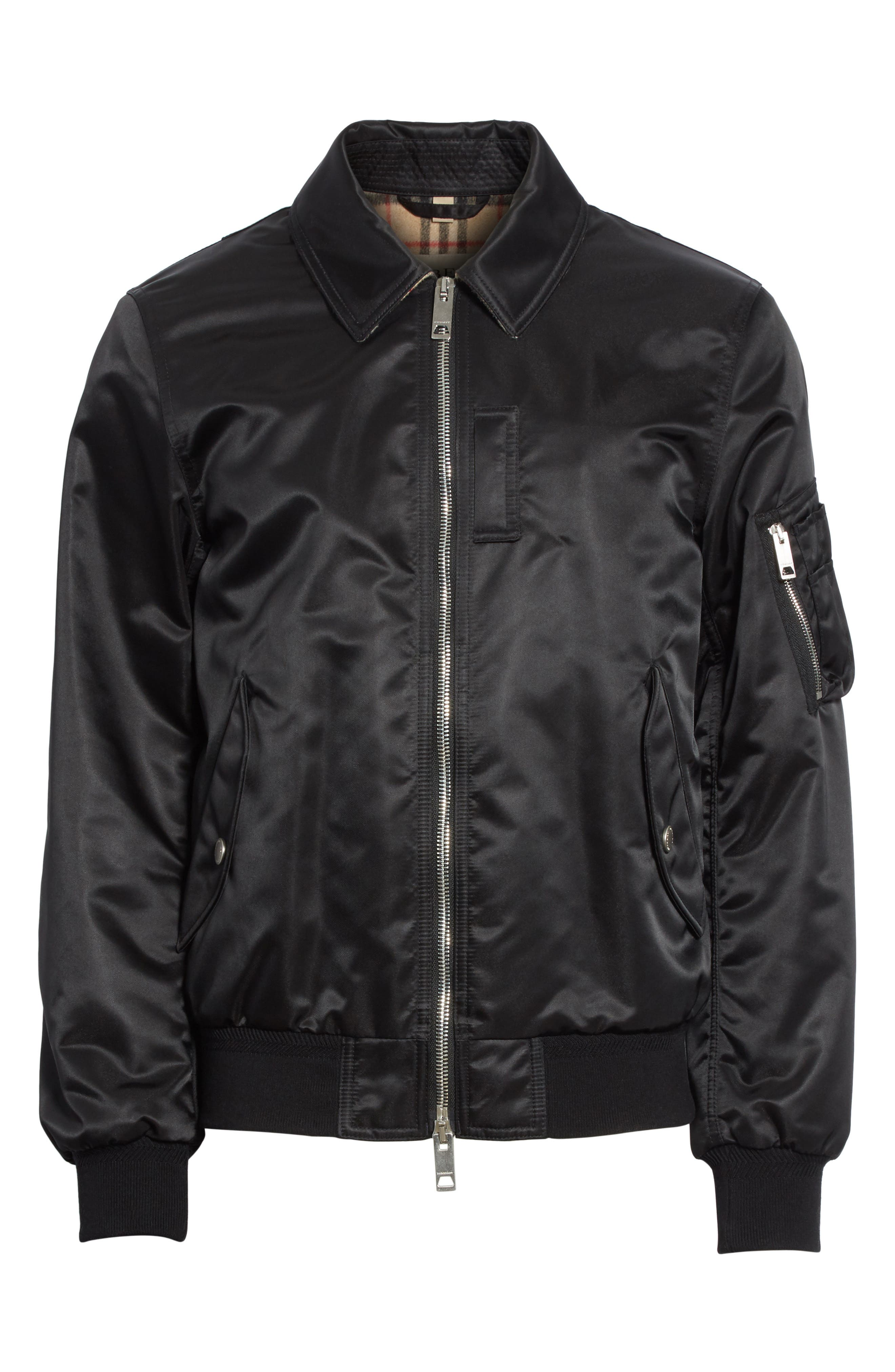 Alternate Image 6  - Burberry Pipley Spread Collar Bomber Jacket