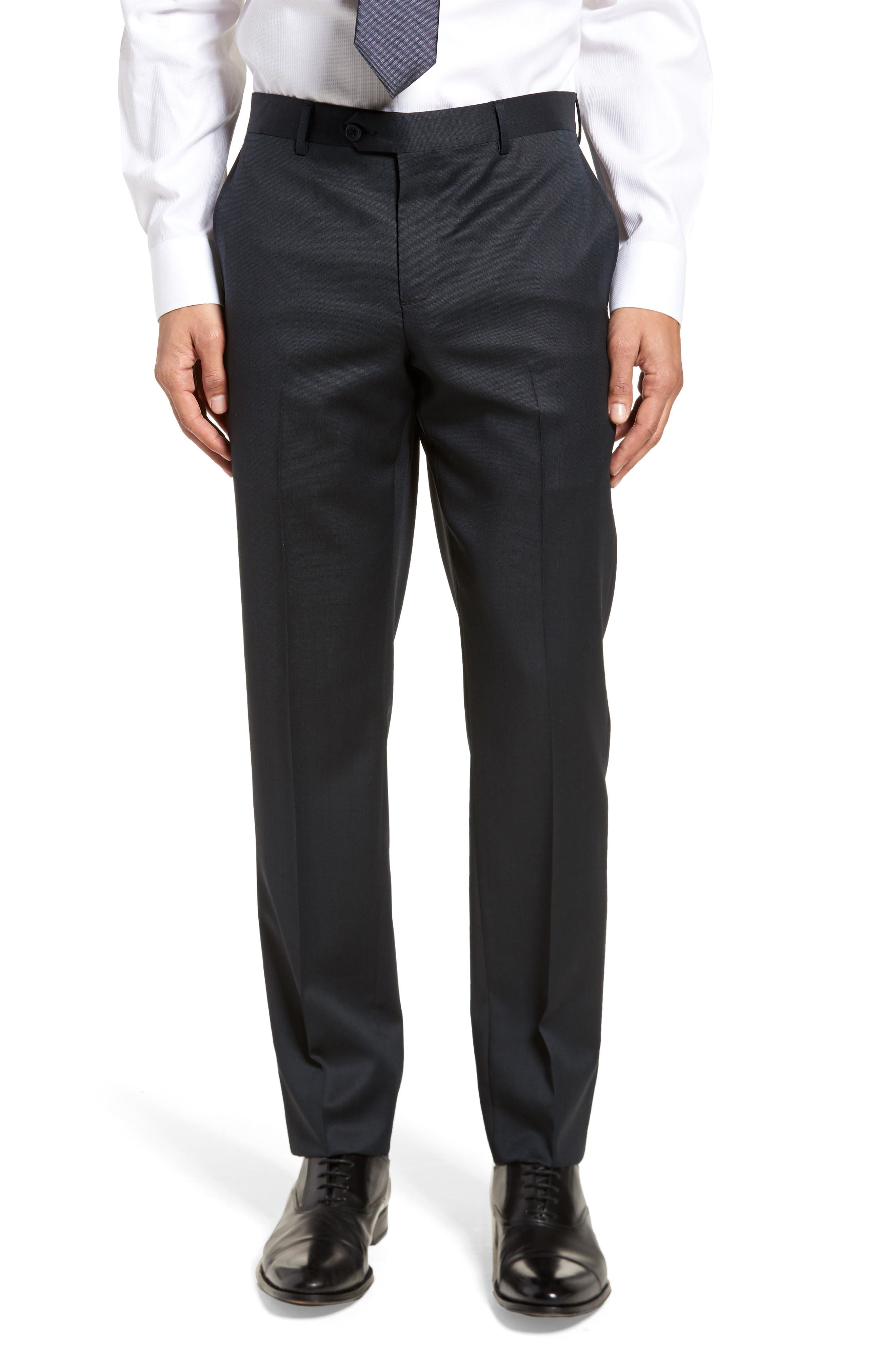 Extra Trim Fit Solid Wool Suit,                             Alternate thumbnail 6, color,                             Navy