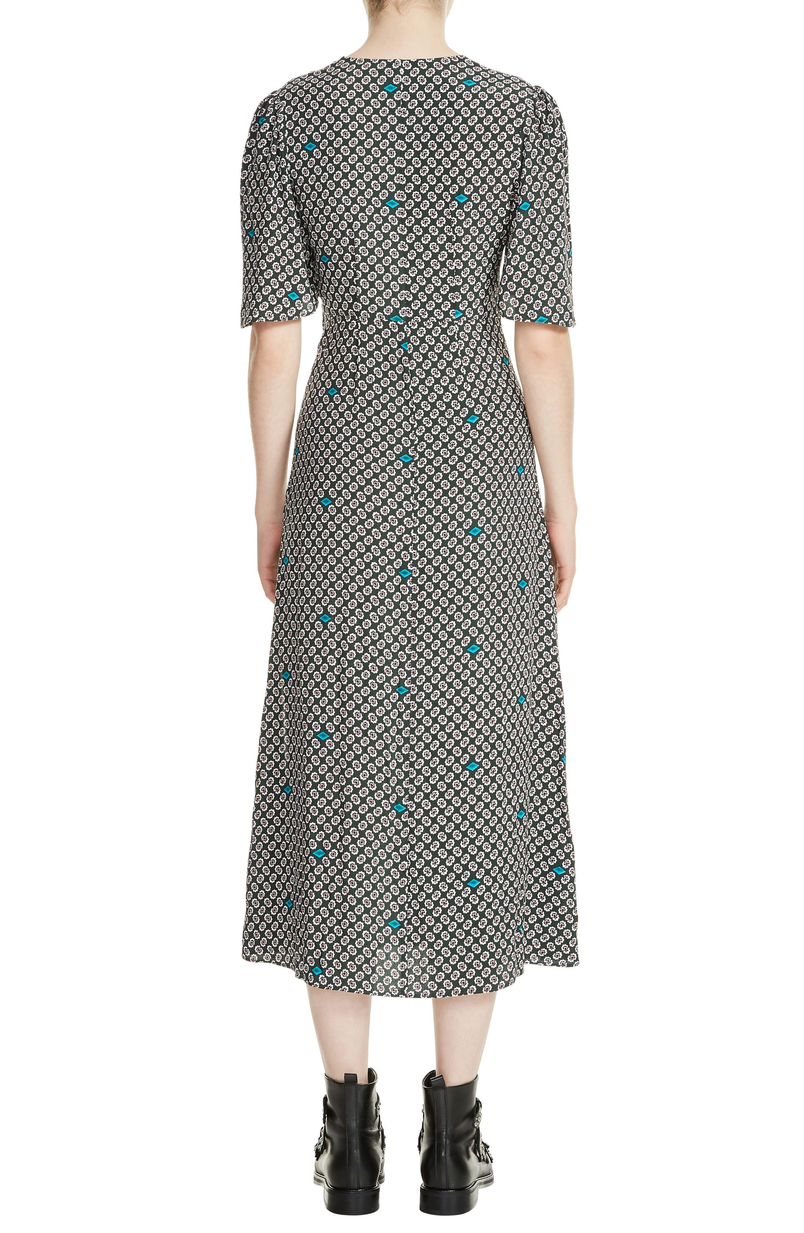 Renoua Print Midi Dress,                             Alternate thumbnail 2, color,                             Printed