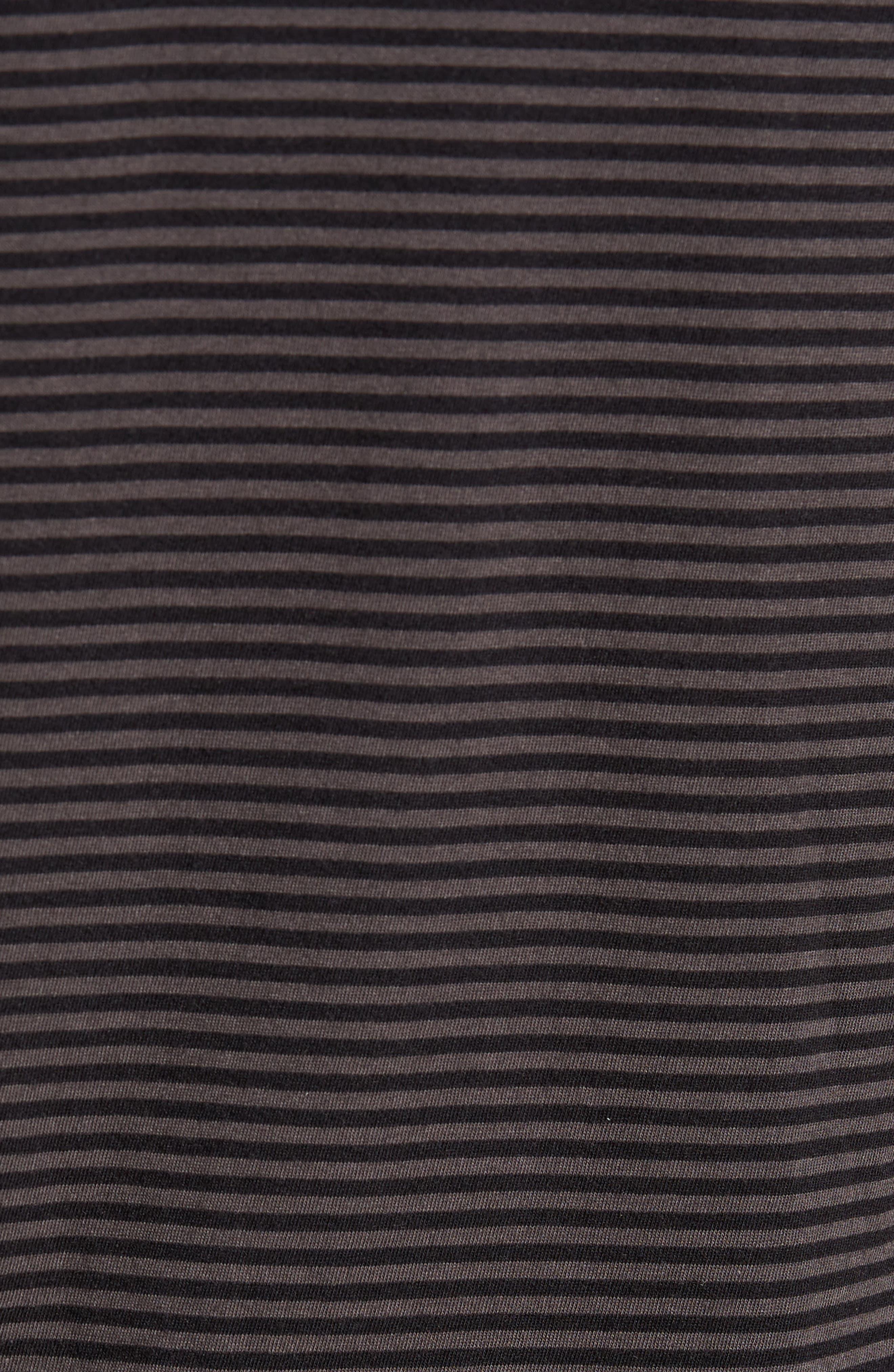 Feeder Stripe Long Sleeve Shirt,                             Alternate thumbnail 5, color,                             Black/ Stone Grey