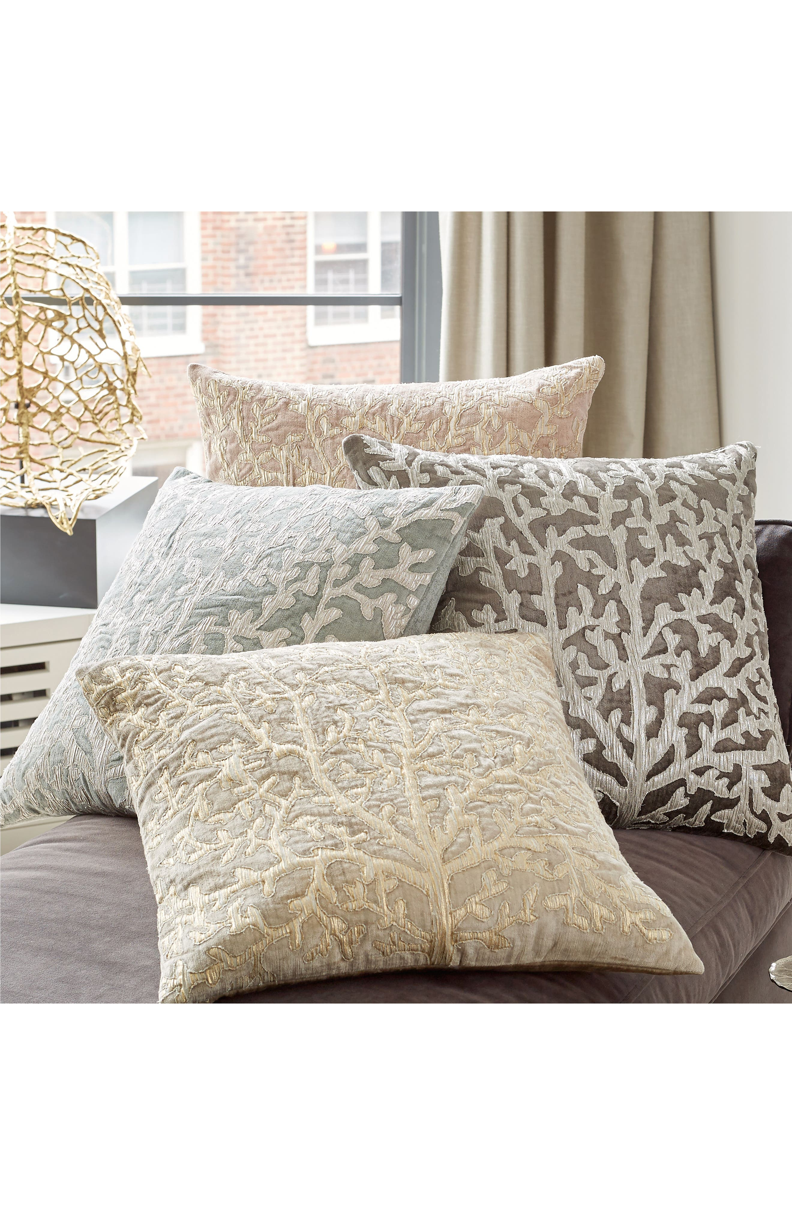 Tree of Life Appliqué Accent Pillow,                             Alternate thumbnail 2, color,                             Pearl Gray