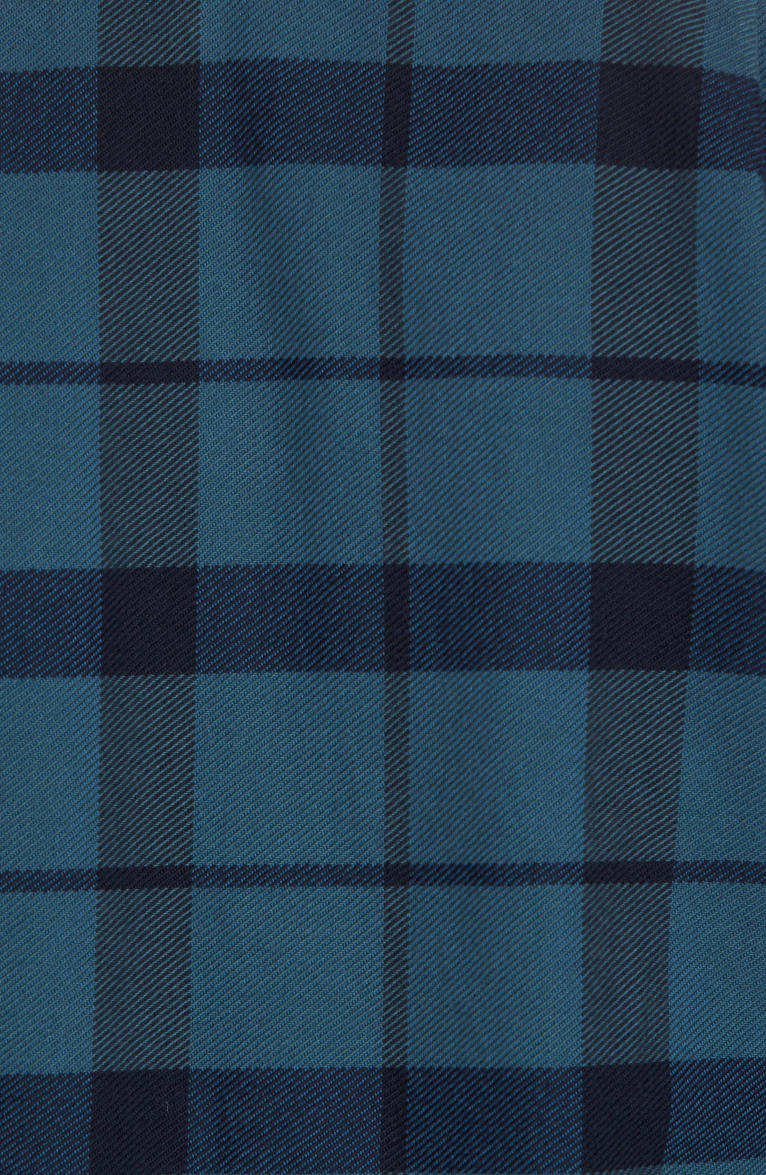 'Vintage Flannel' Regular Fit Plaid Cotton Shirt,                             Alternate thumbnail 10, color,                             Brown/ Navy