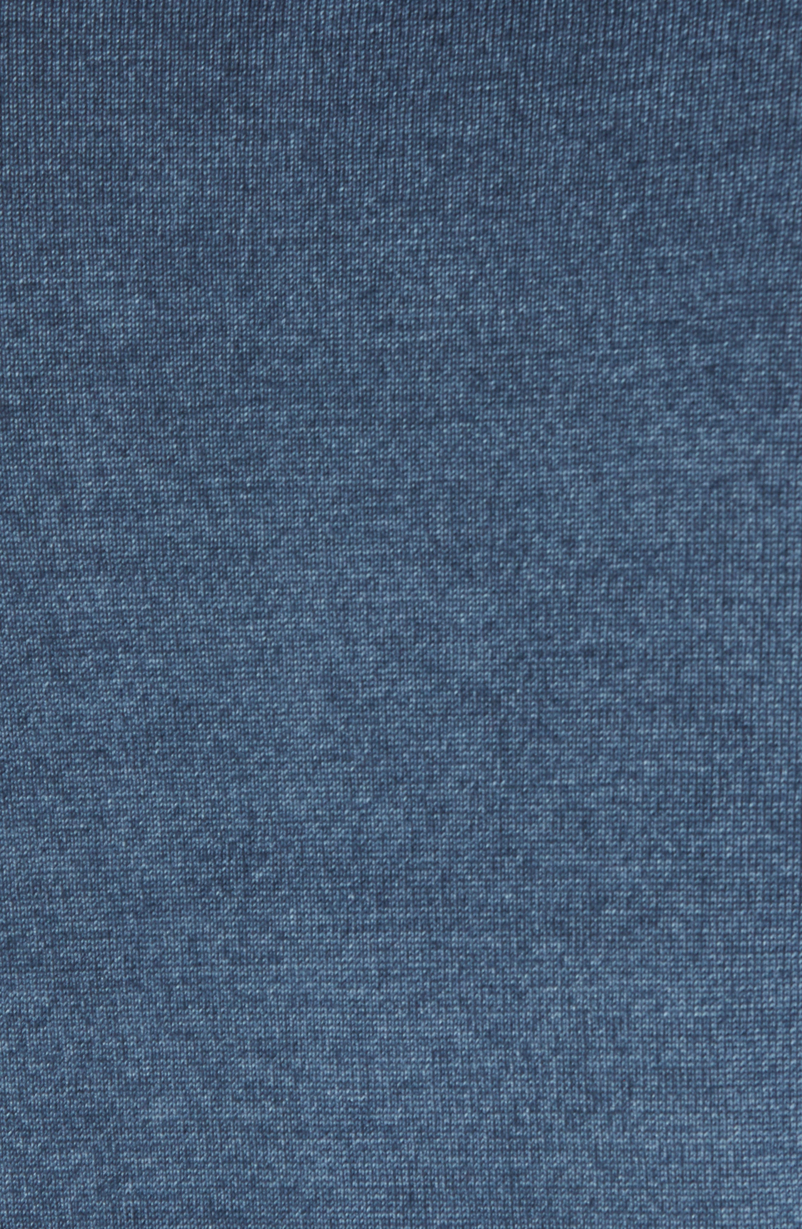 Lucky Trim Fit Wool Sweater,                             Alternate thumbnail 5, color,                             Mid Blue