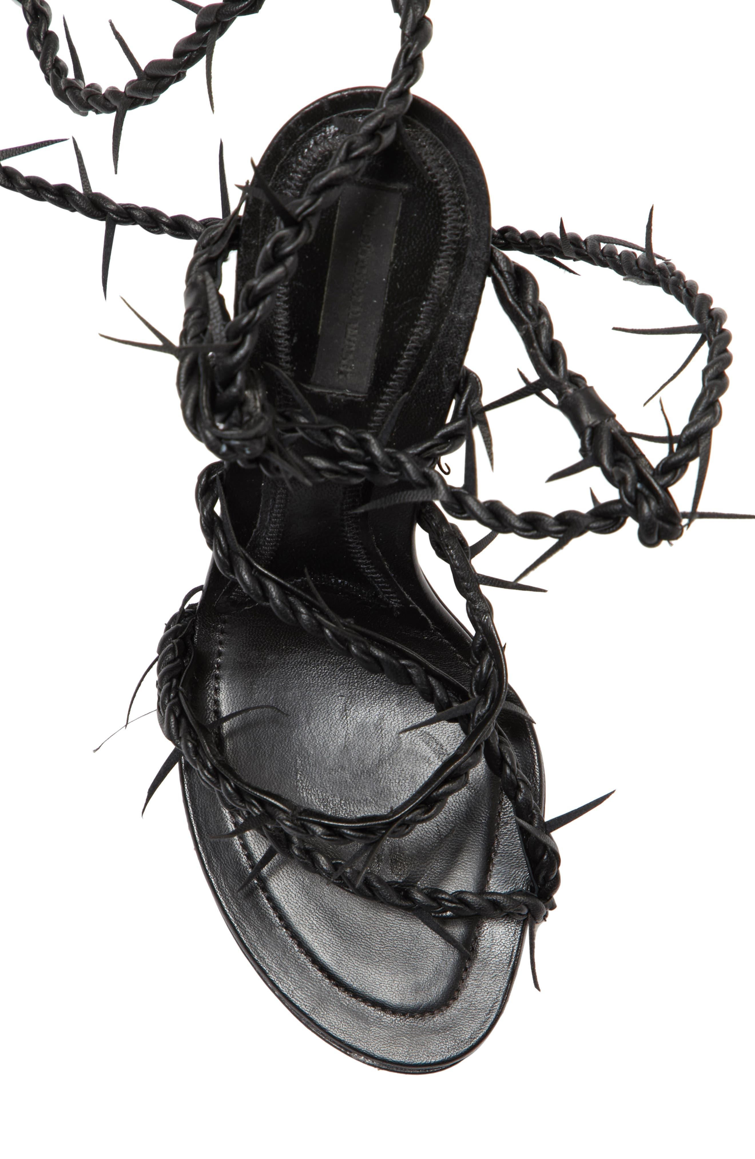 Lexie Cabel Wire Sandal,                             Alternate thumbnail 5, color,                             Black