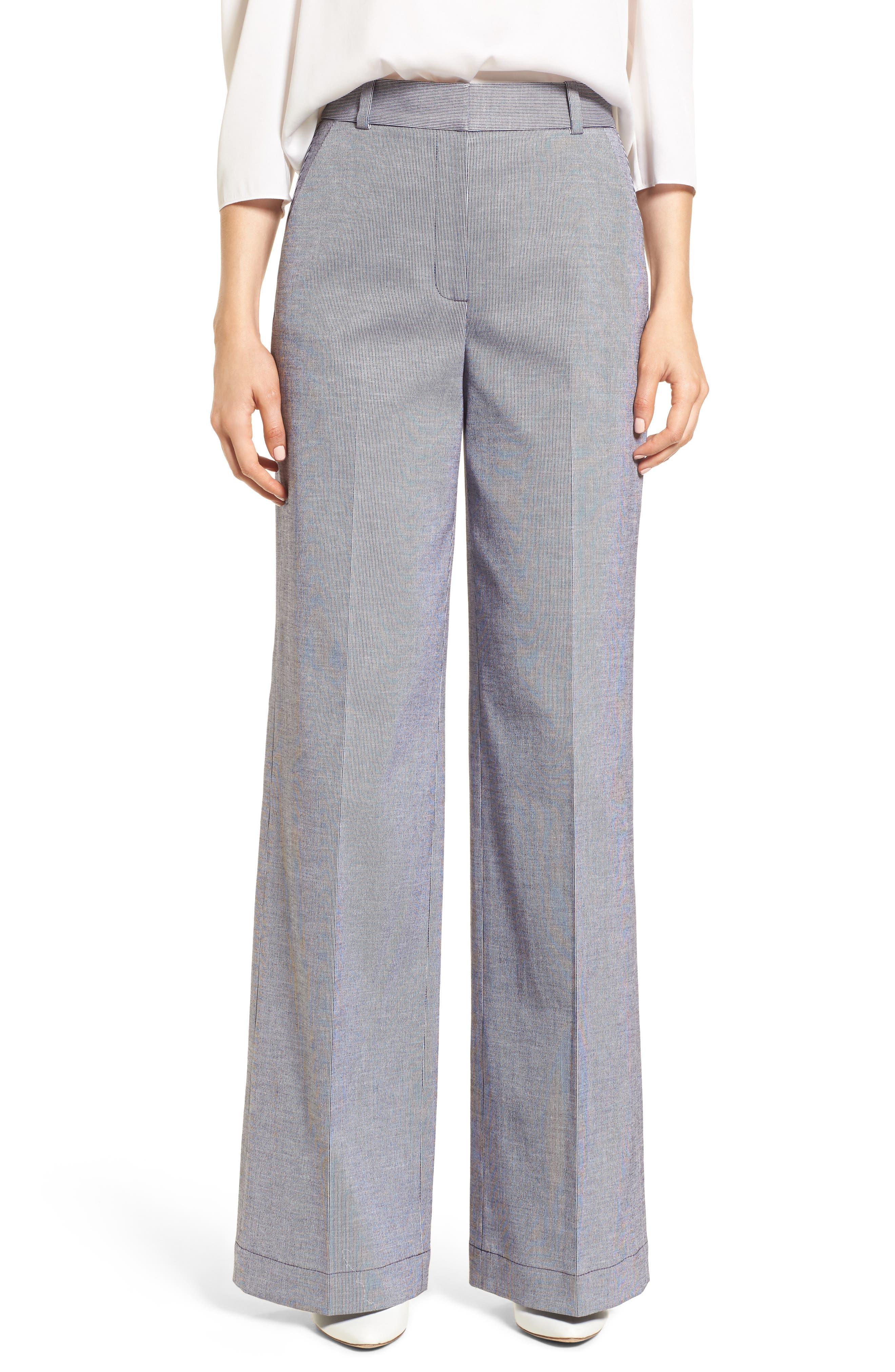 Ticking Stripe Pants,                         Main,                         color, Navy Night- White Stripe