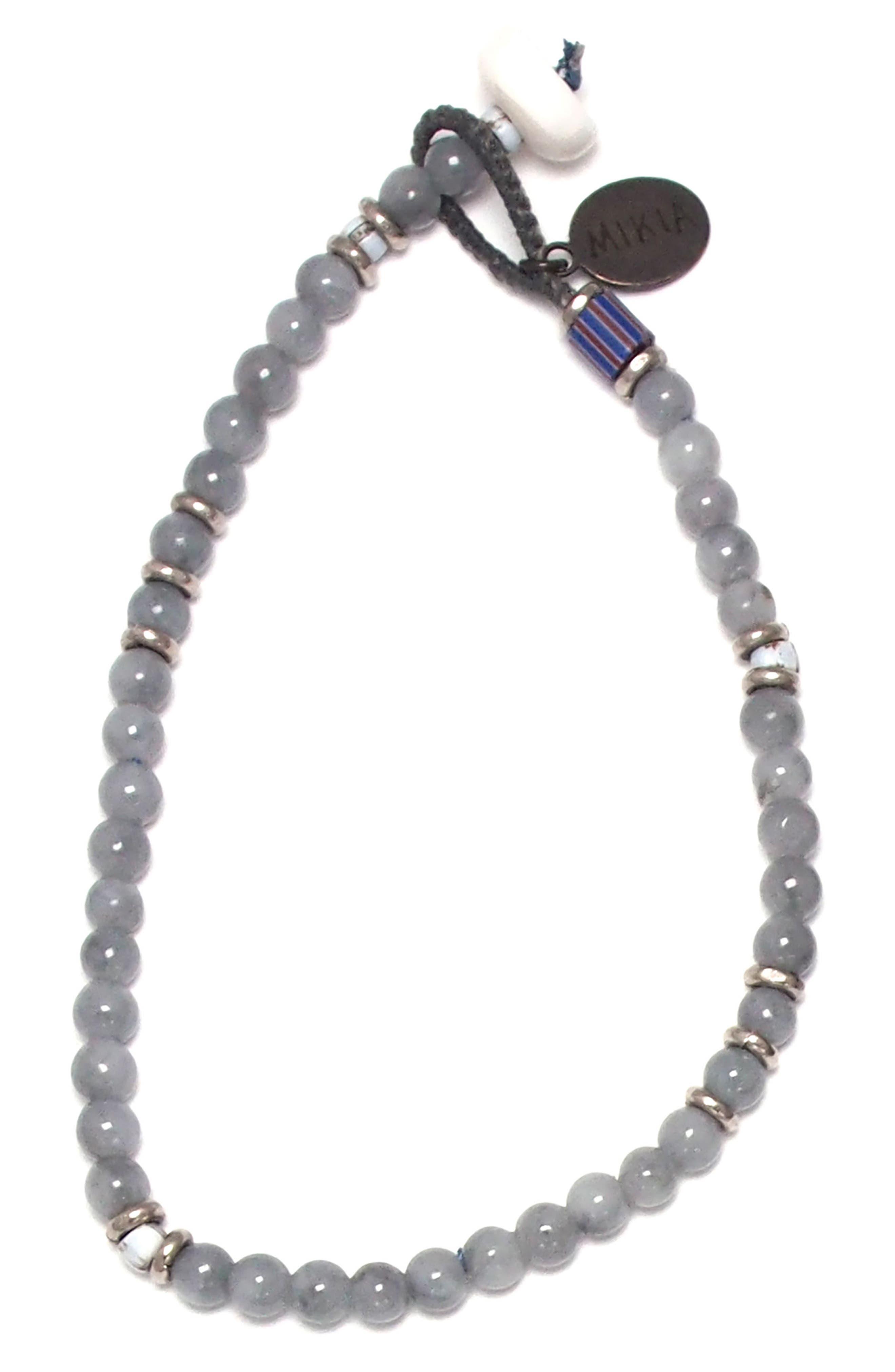 Bead Bracelet,                         Main,                         color, Grey Jadeite