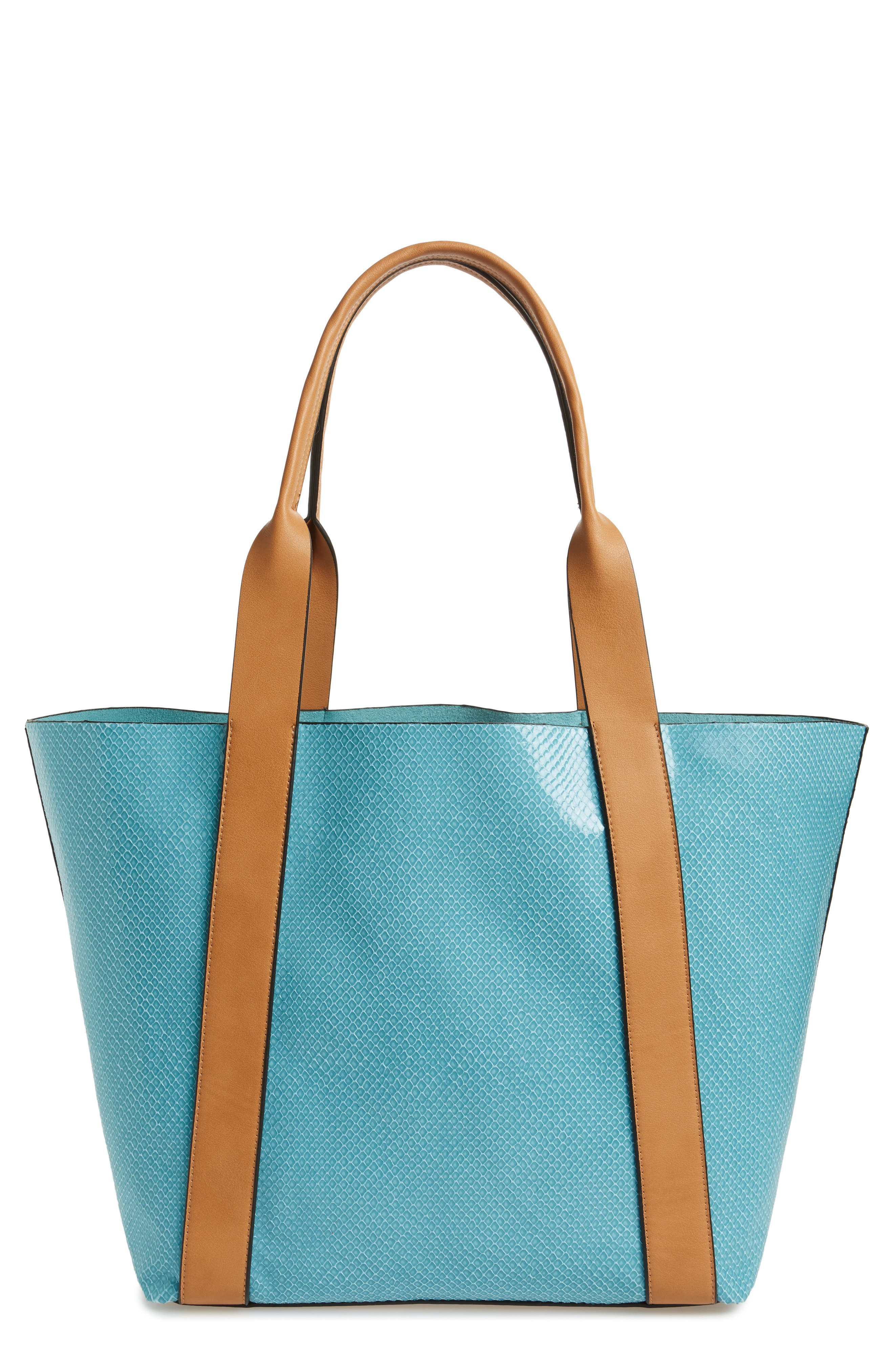 Main Image - Sondra Roberts Faux Leather Tote & Wristlet