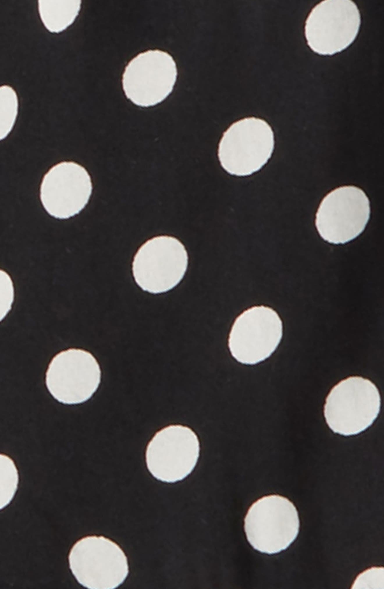 Polka Dot Bell Sleeve Top,                             Alternate thumbnail 2, color,                             Black/ Ivory