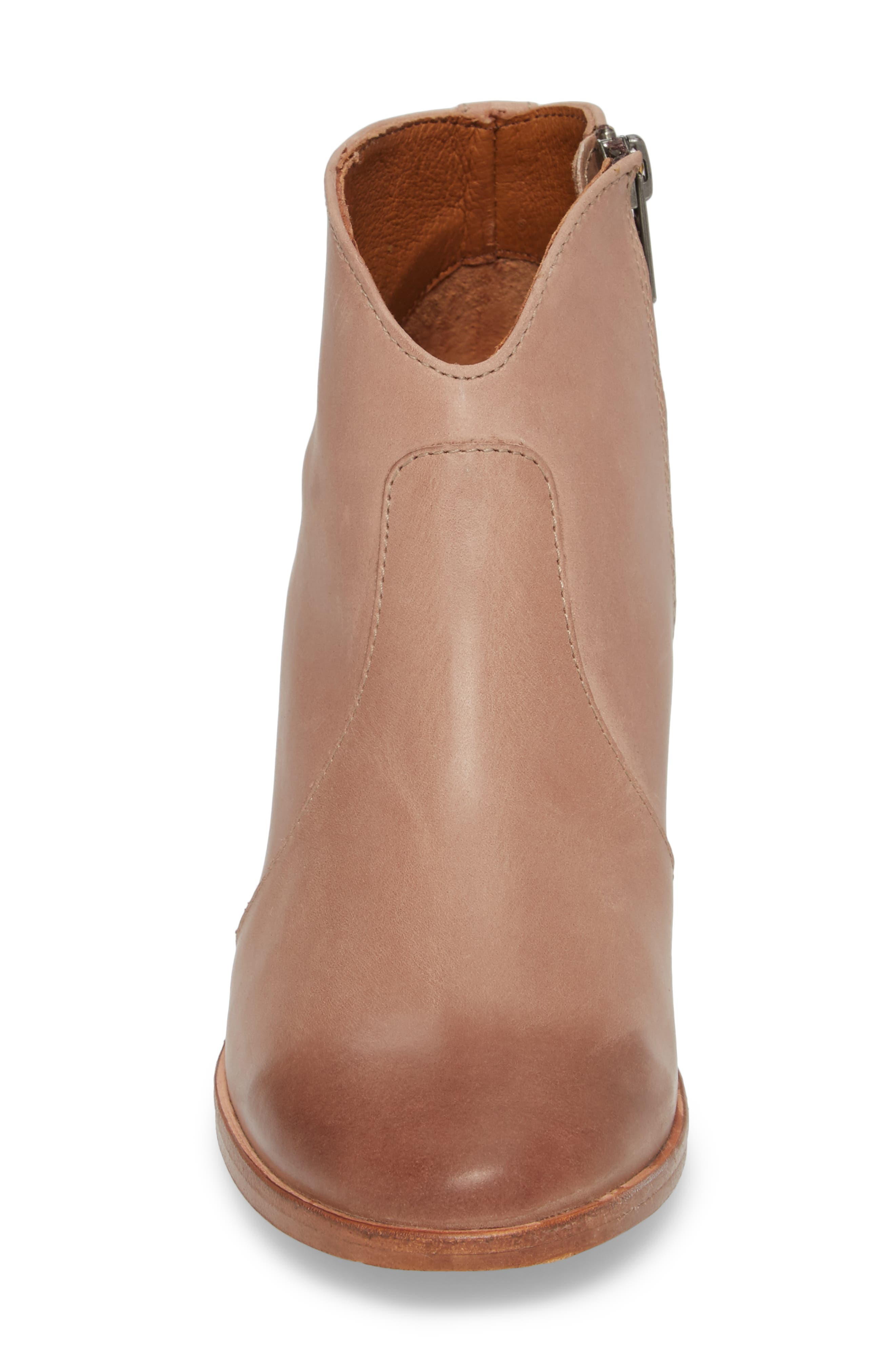Nora Zip Bootie,                             Alternate thumbnail 4, color,                             Dusty Rose