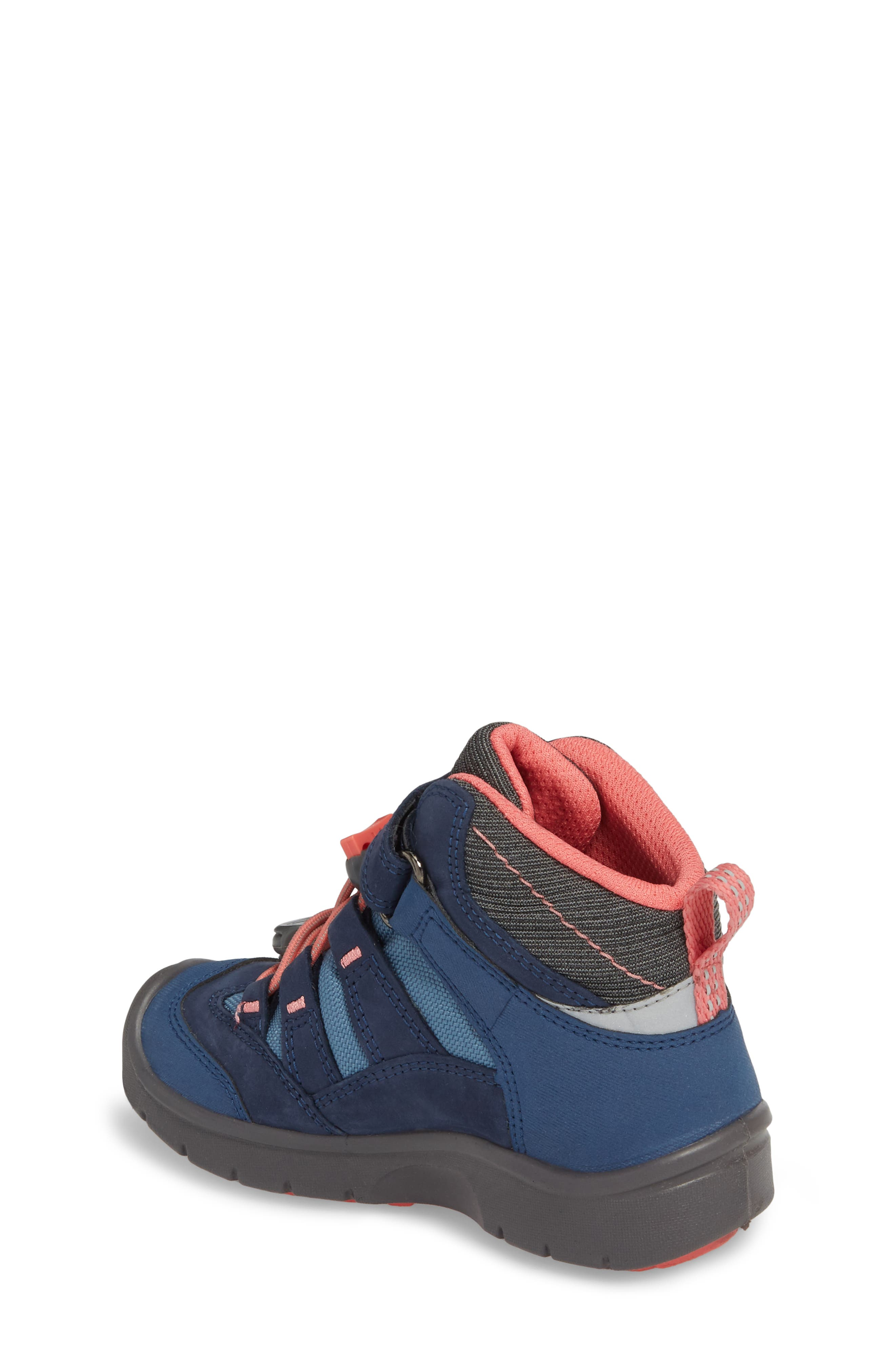 Hikeport Strap Waterproof Mid Boot,                             Alternate thumbnail 2, color,                             Dress Blues/ Sugar Coral