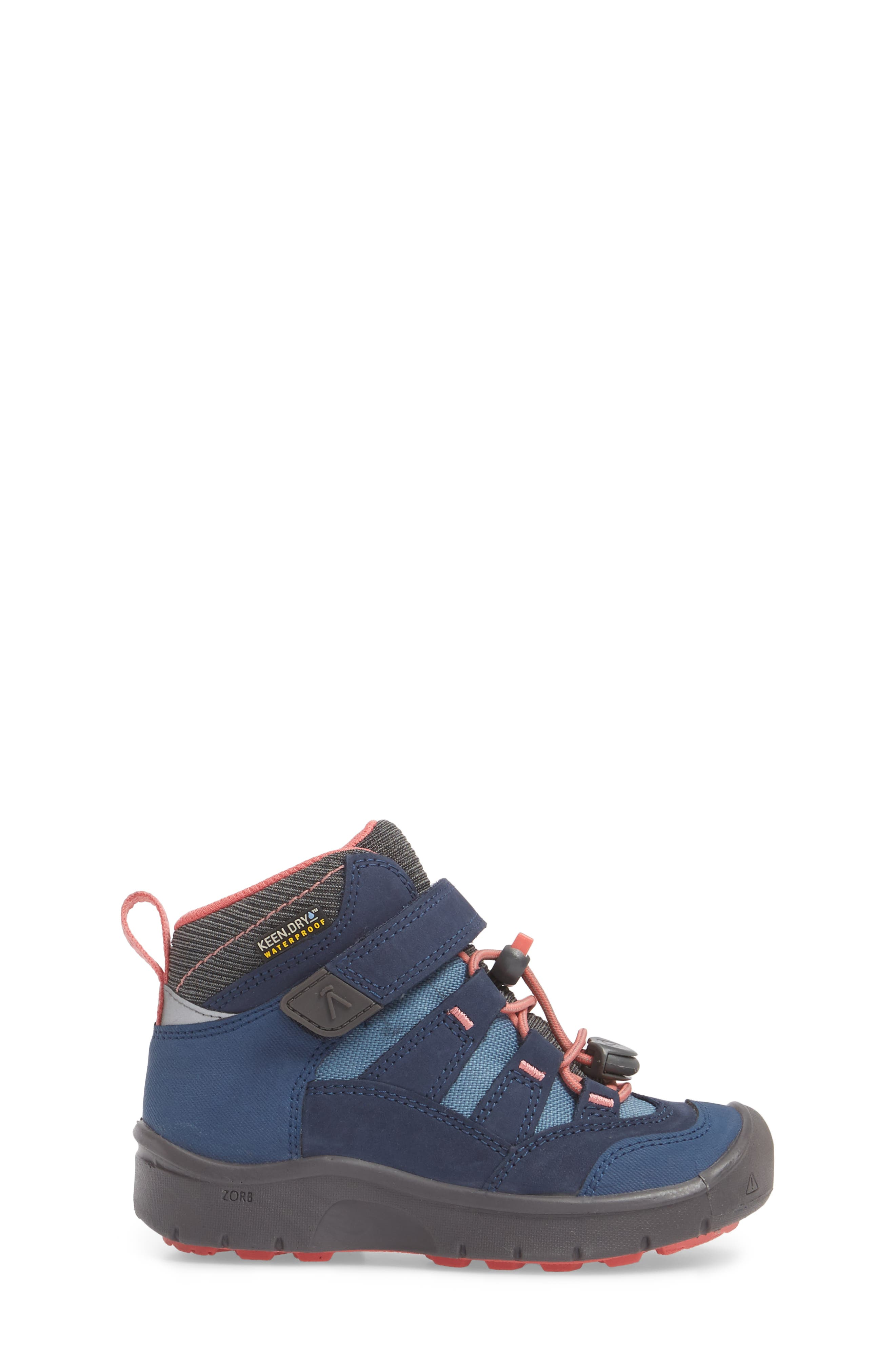 Hikeport Strap Waterproof Mid Boot,                             Alternate thumbnail 3, color,                             Dress Blues/ Sugar Coral