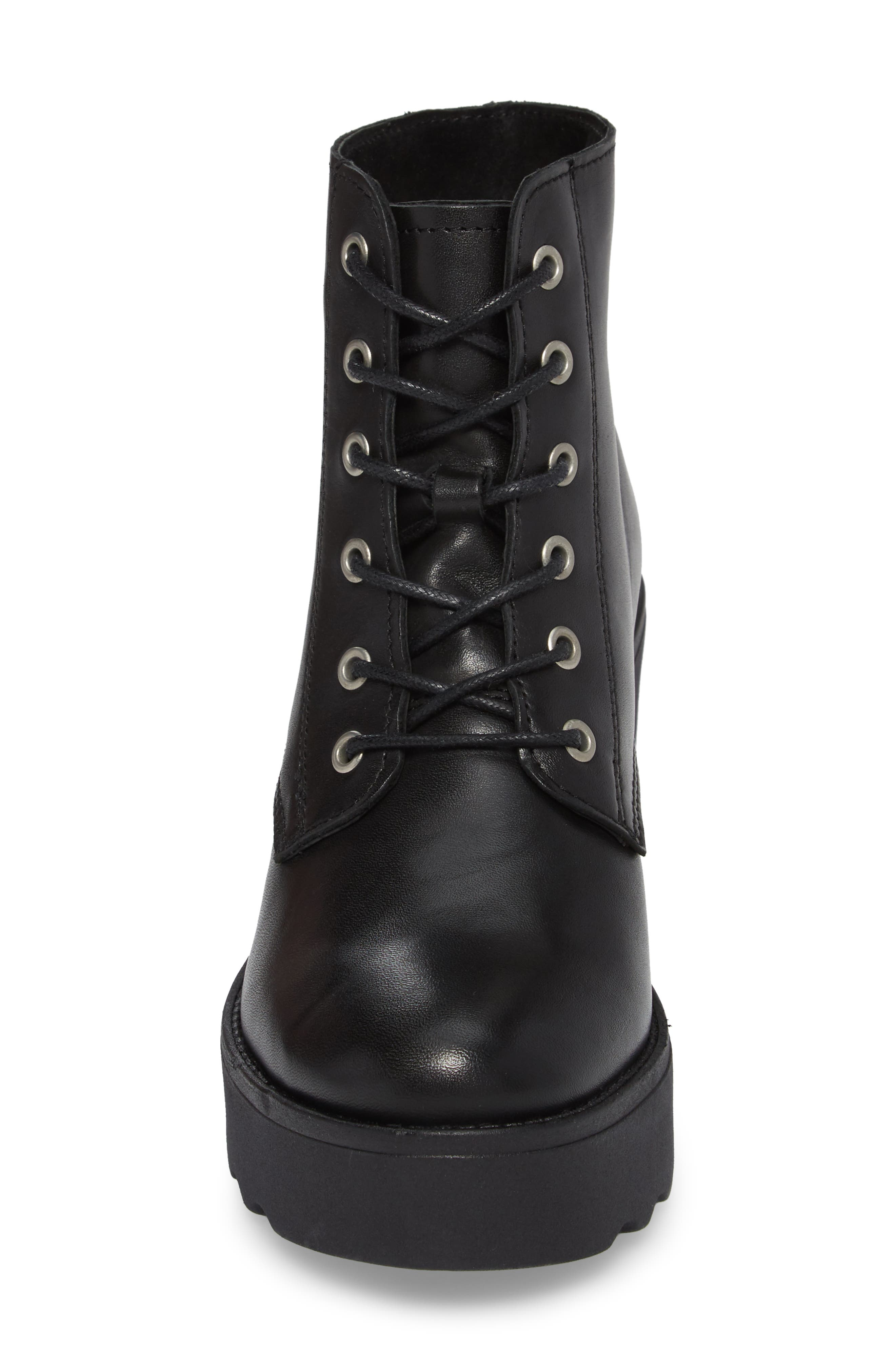Gusto Boot,                             Alternate thumbnail 4, color,                             Black Leather