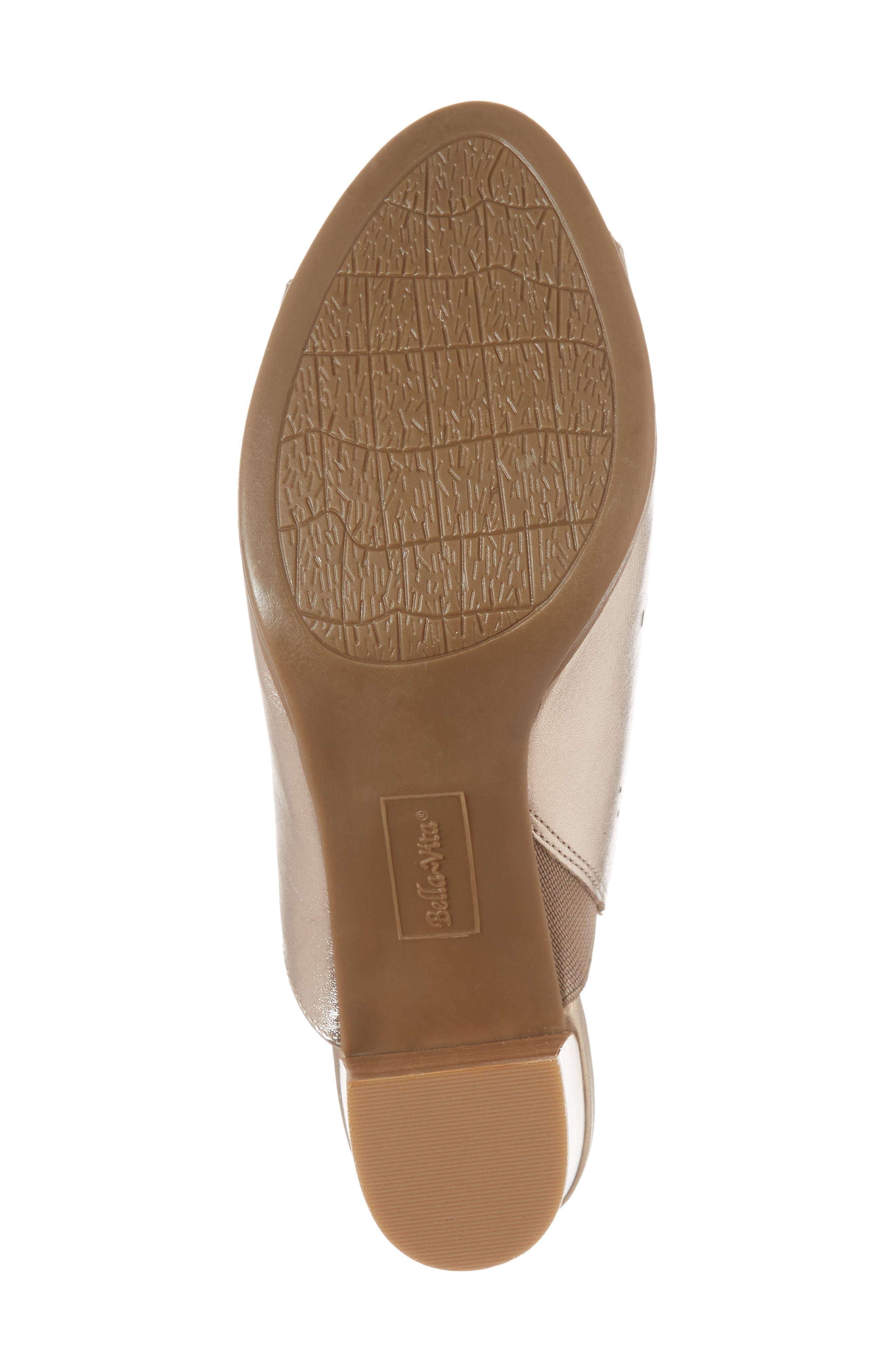Lark Laser Perforated Slide Sandal,                             Alternate thumbnail 6, color,                             Champagne Leather