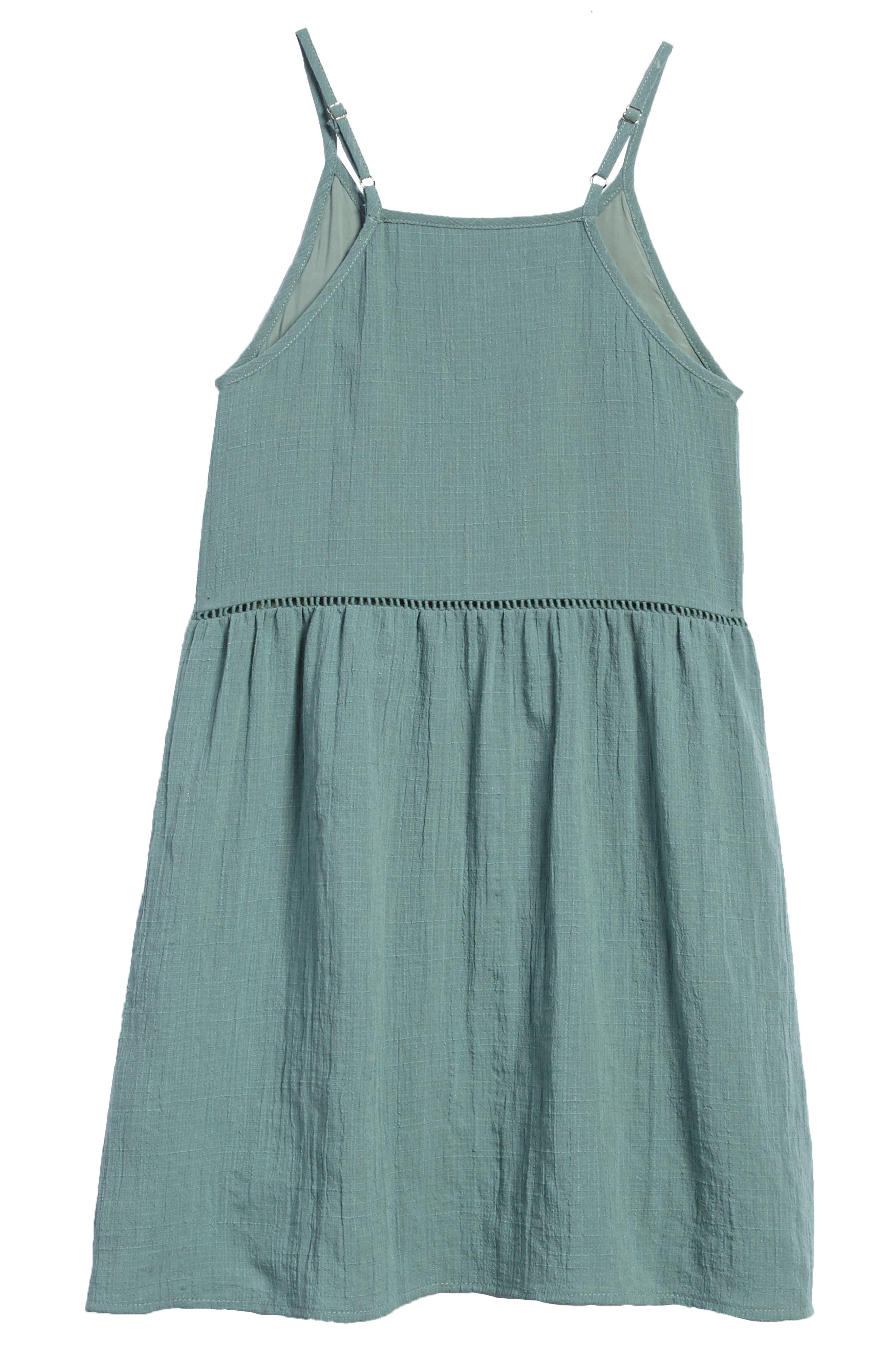 Alternate Image 2  - For All Season Woven Tank Dress (Big Girls)