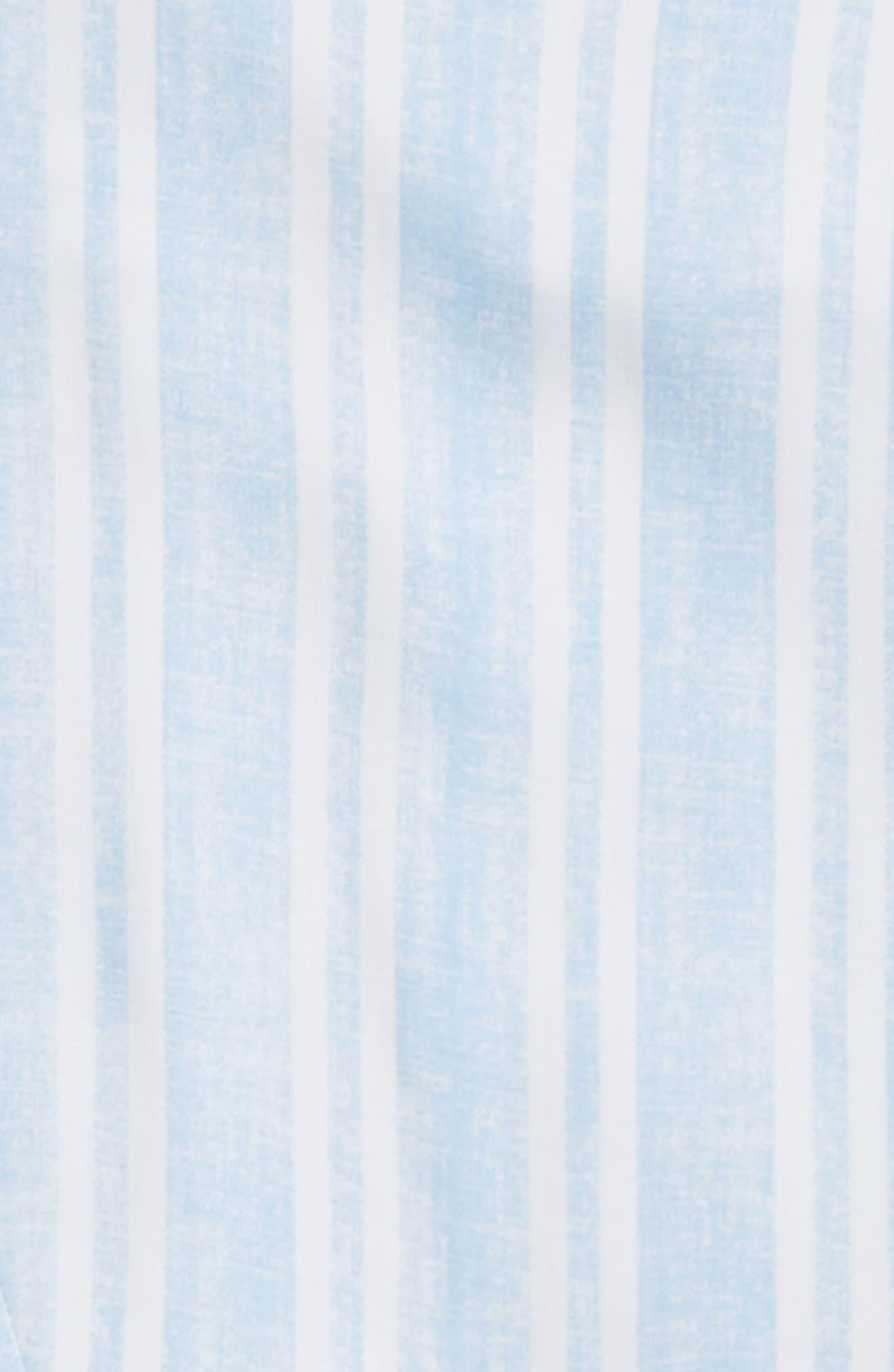 Tie Front Shirt,                             Alternate thumbnail 2, color,                             Light Blue/ White