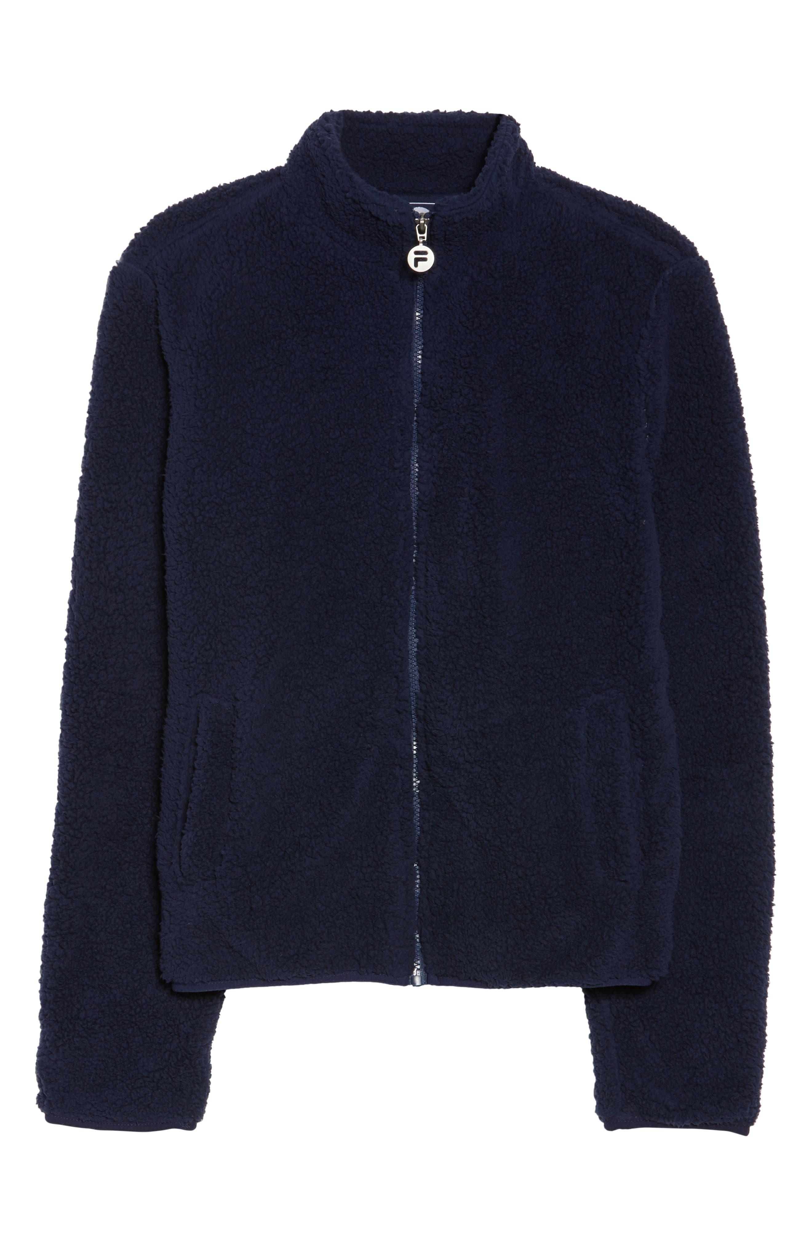Stevie Fleece Jacket,                         Main,                         color, Navy