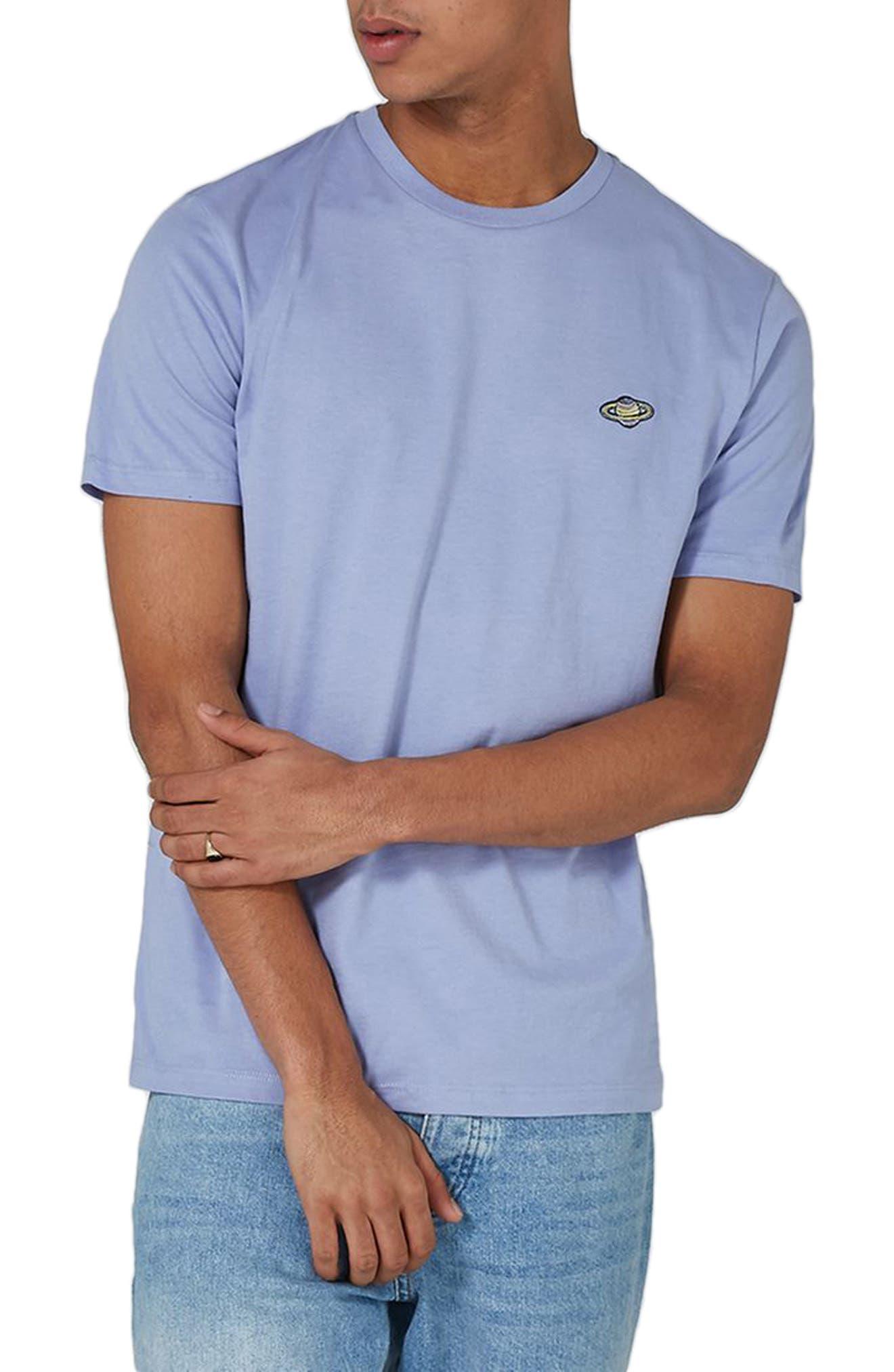 Saturn Logo T-Shirt,                         Main,                         color, Purple