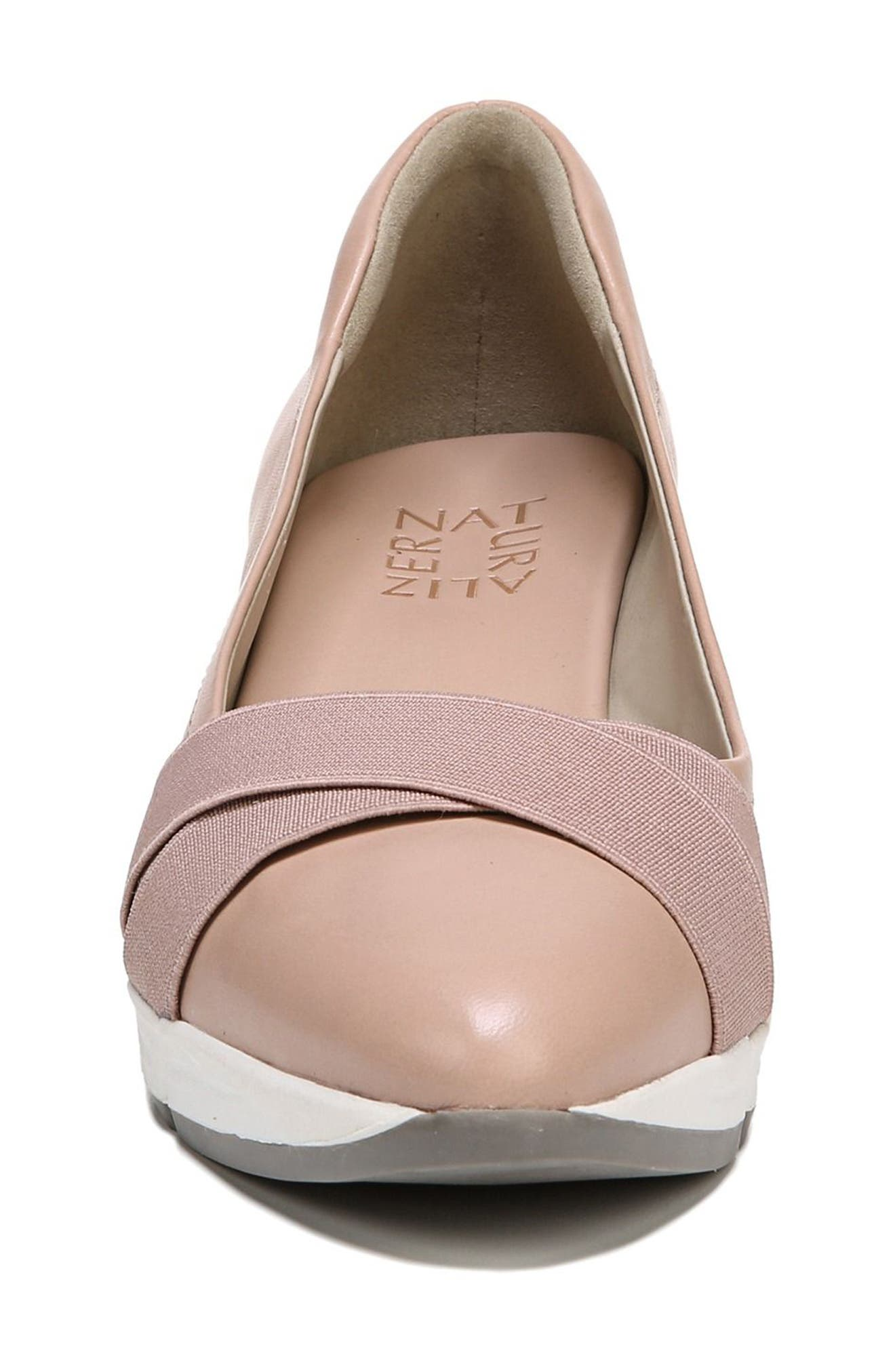 Harlyn Wedge Pump,                             Alternate thumbnail 5, color,                             Mauve Leather