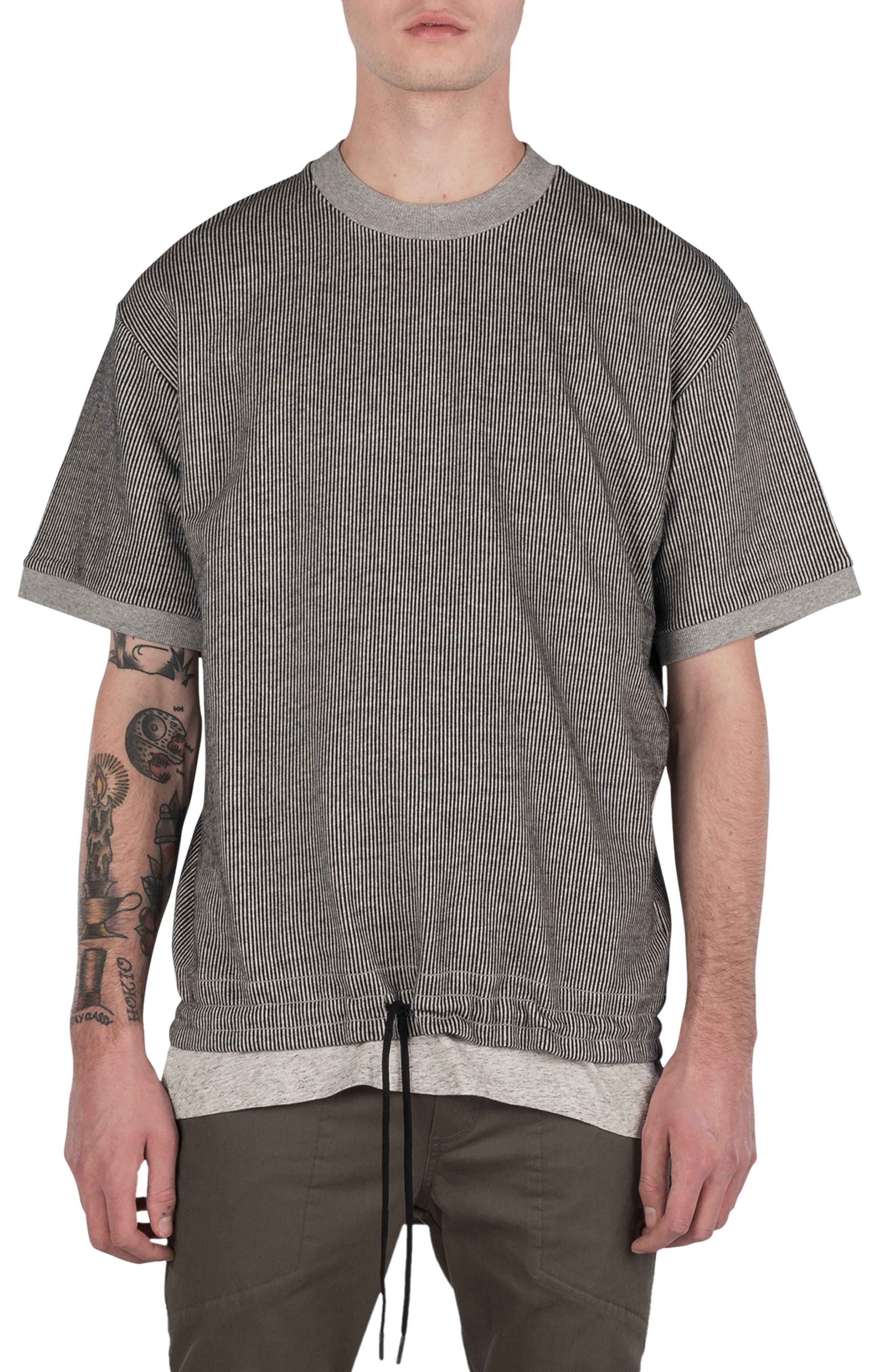 Stripe Box Sweatshirt,                         Main,                         color, Storm Marle/ Black